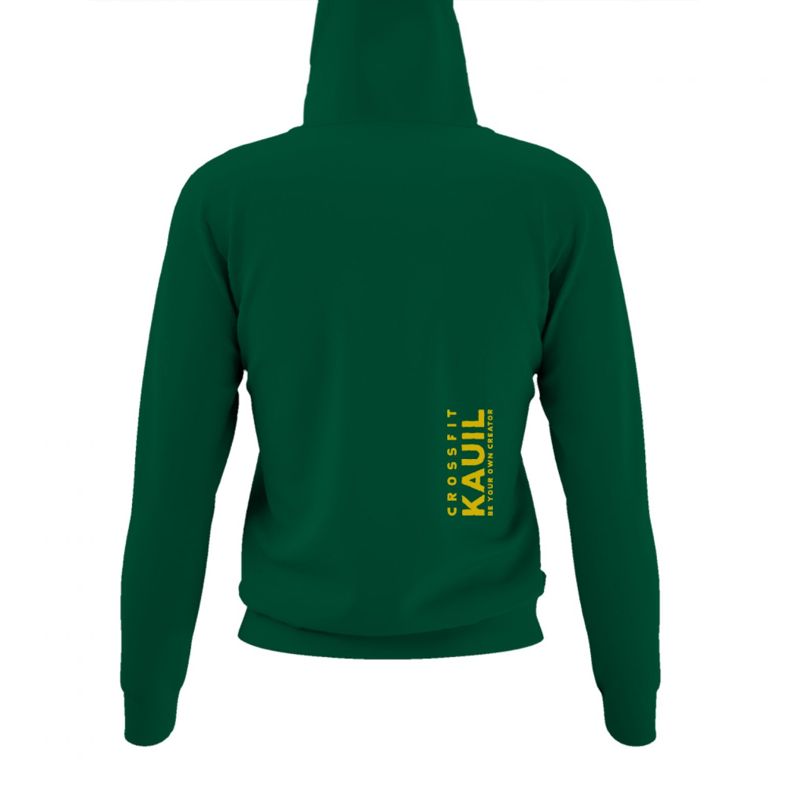 DamenHoody Bottlegreen1 gold back