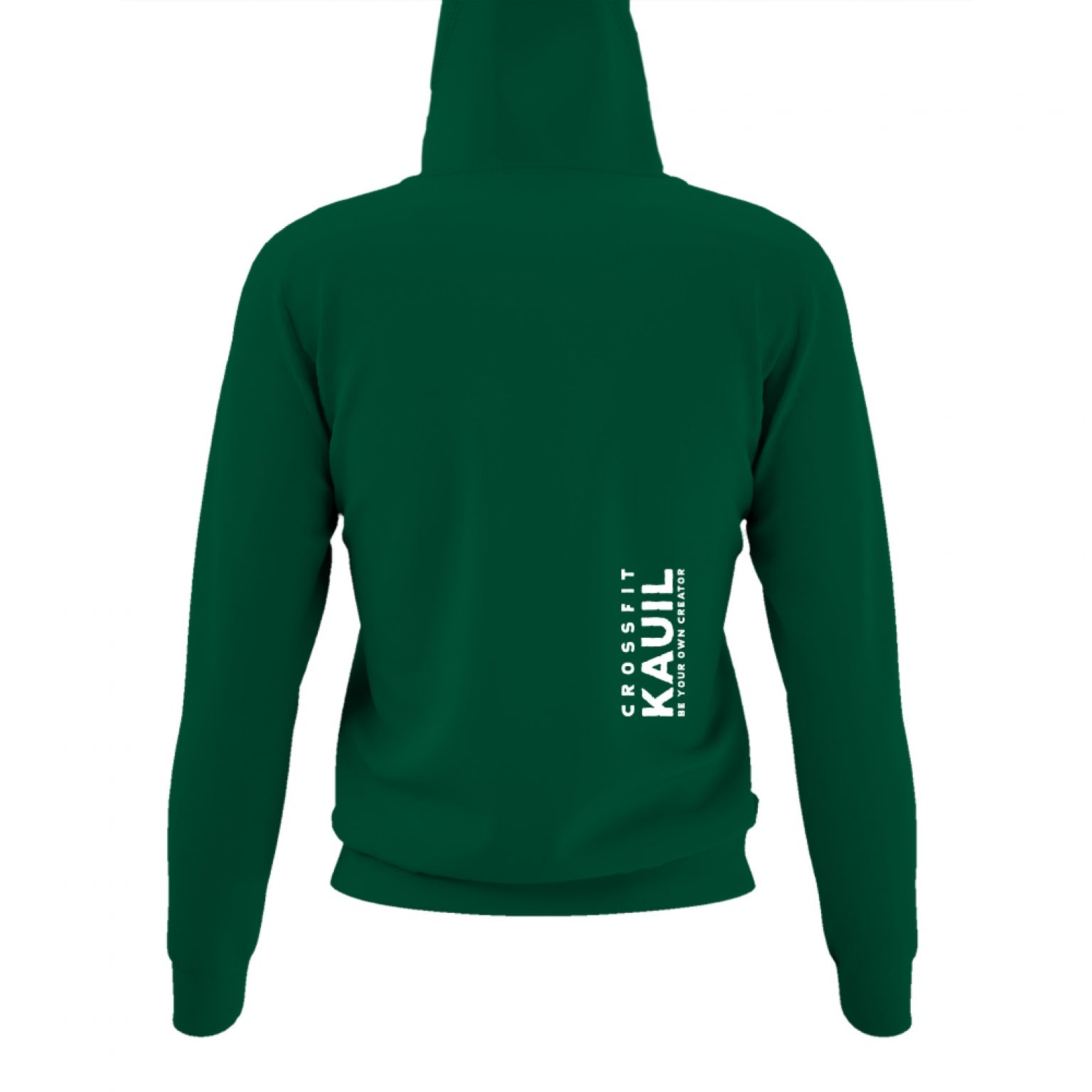 DamenHoody Bottlegreen1 weiss back