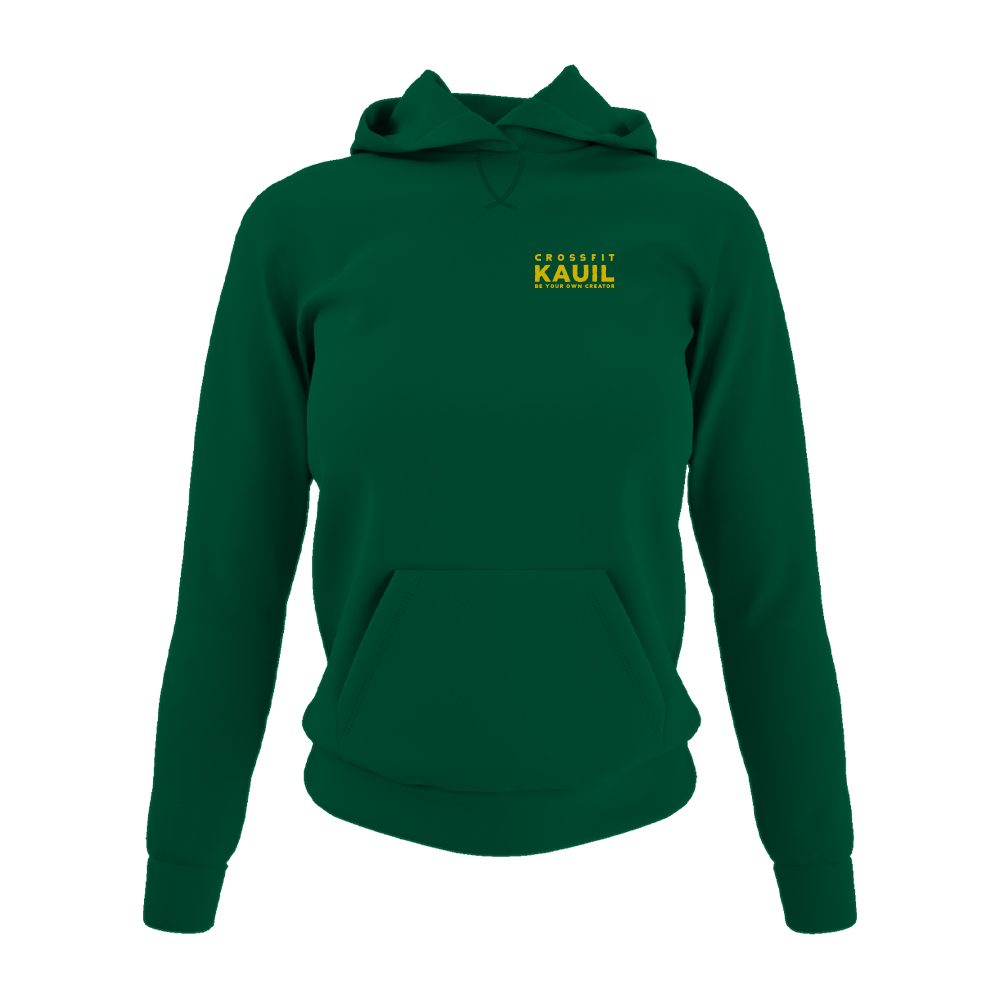 DamenHoody Bottlegreen2 gold front