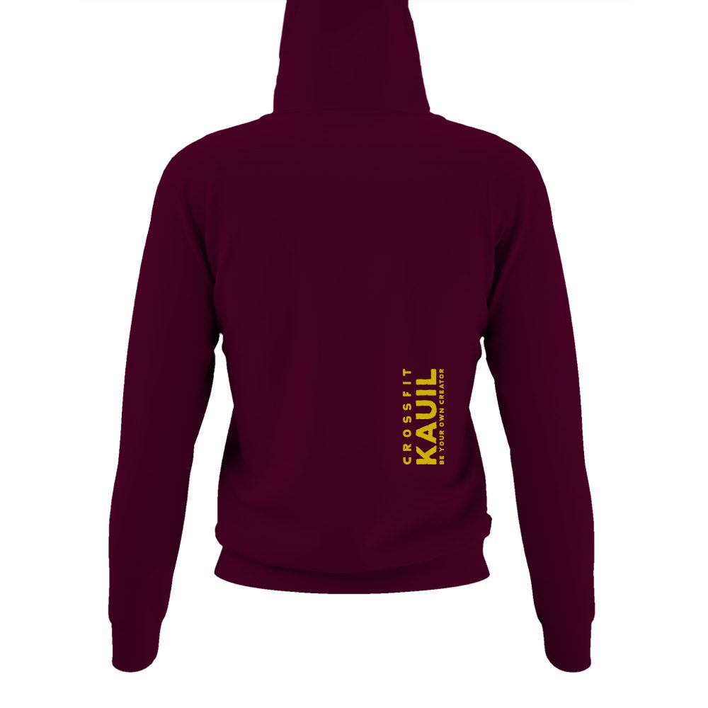 DamenHoody Burgundy1 gold back