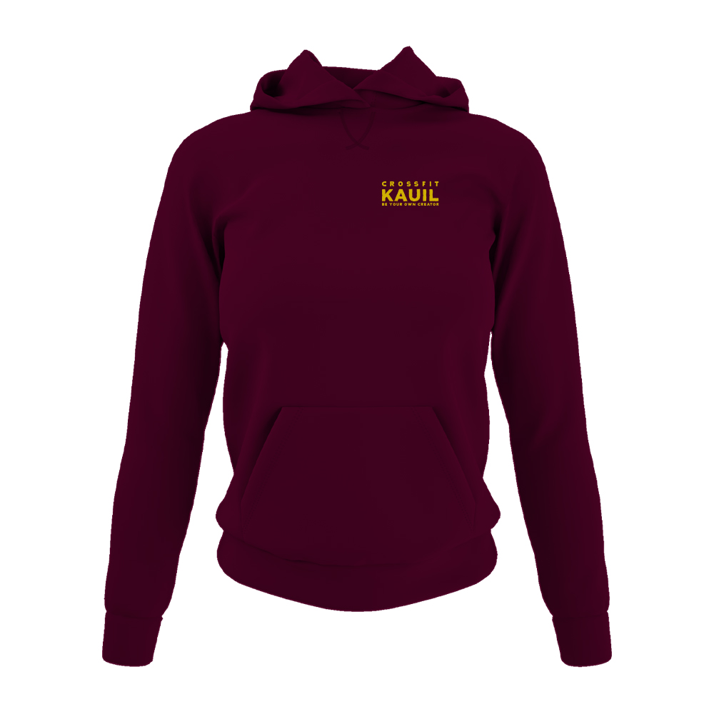 DamenHoody Burgundy2 gold front