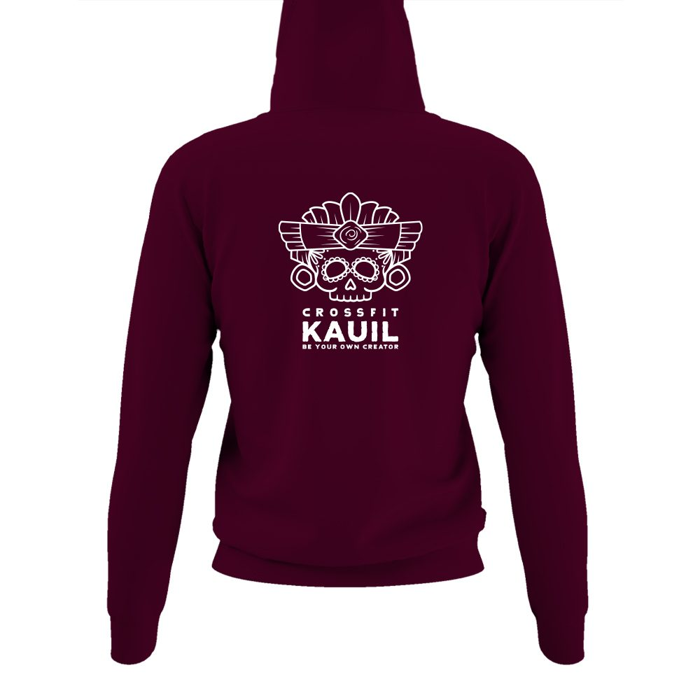 DamenHoody Burgundy2 weiss back