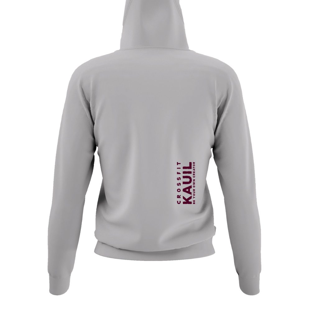 DamenHoody Lightoxford1 burgundy back