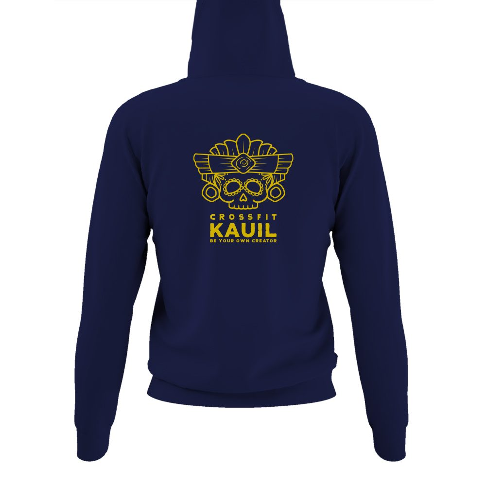 DamenHoody Navy2 gold back