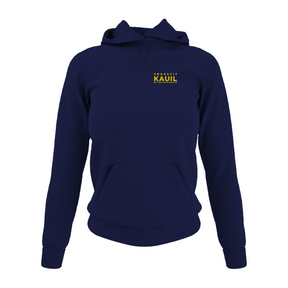 DamenHoody Navy2 gold front