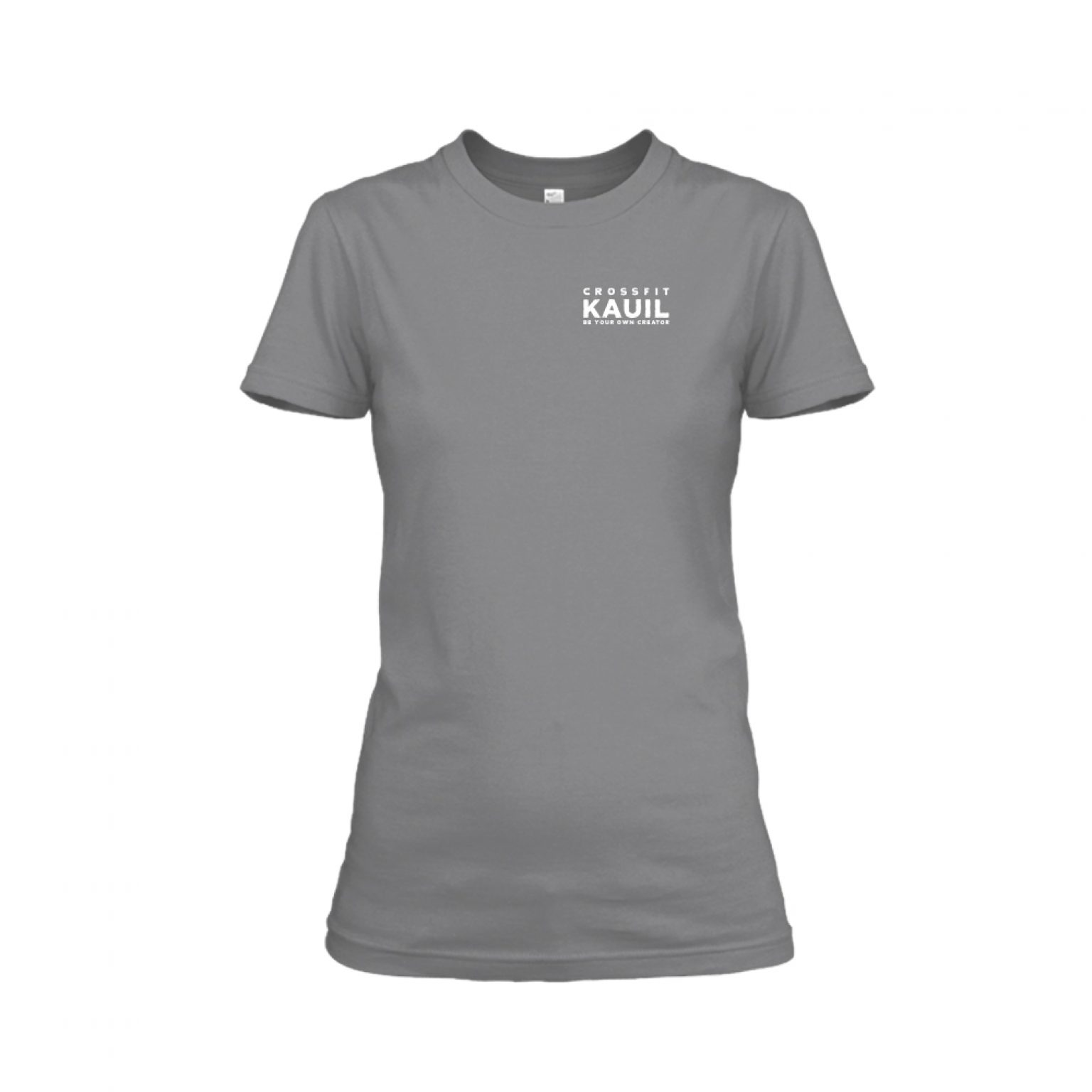 Damen Shirt HeatherDarkGrey front 1
