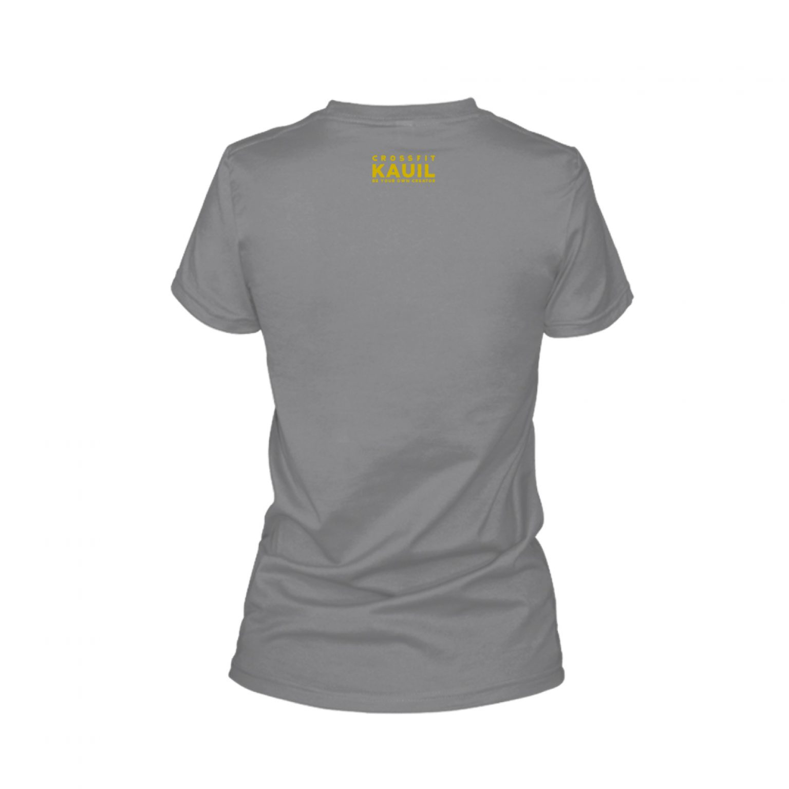 Damen Shirt REVERSED HeatherDarkGrey back 1