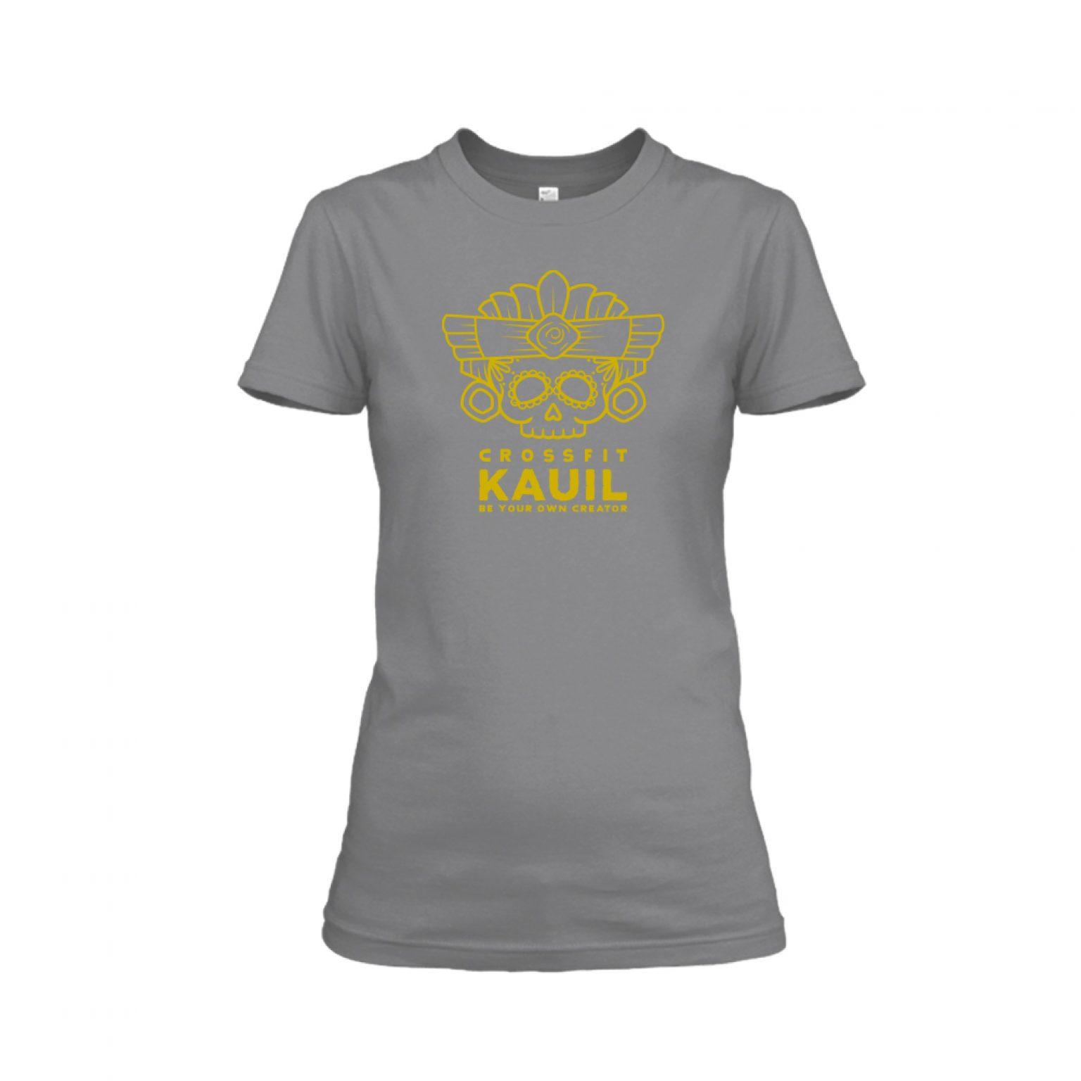 Damen Shirt REVERSED HeatherDarkGrey front 1