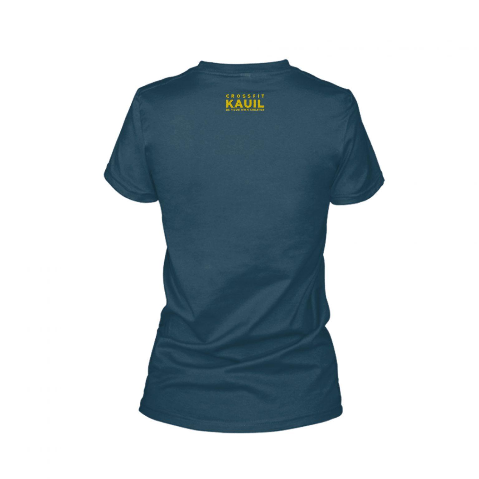Damen Shirt REVERSED Navy Back