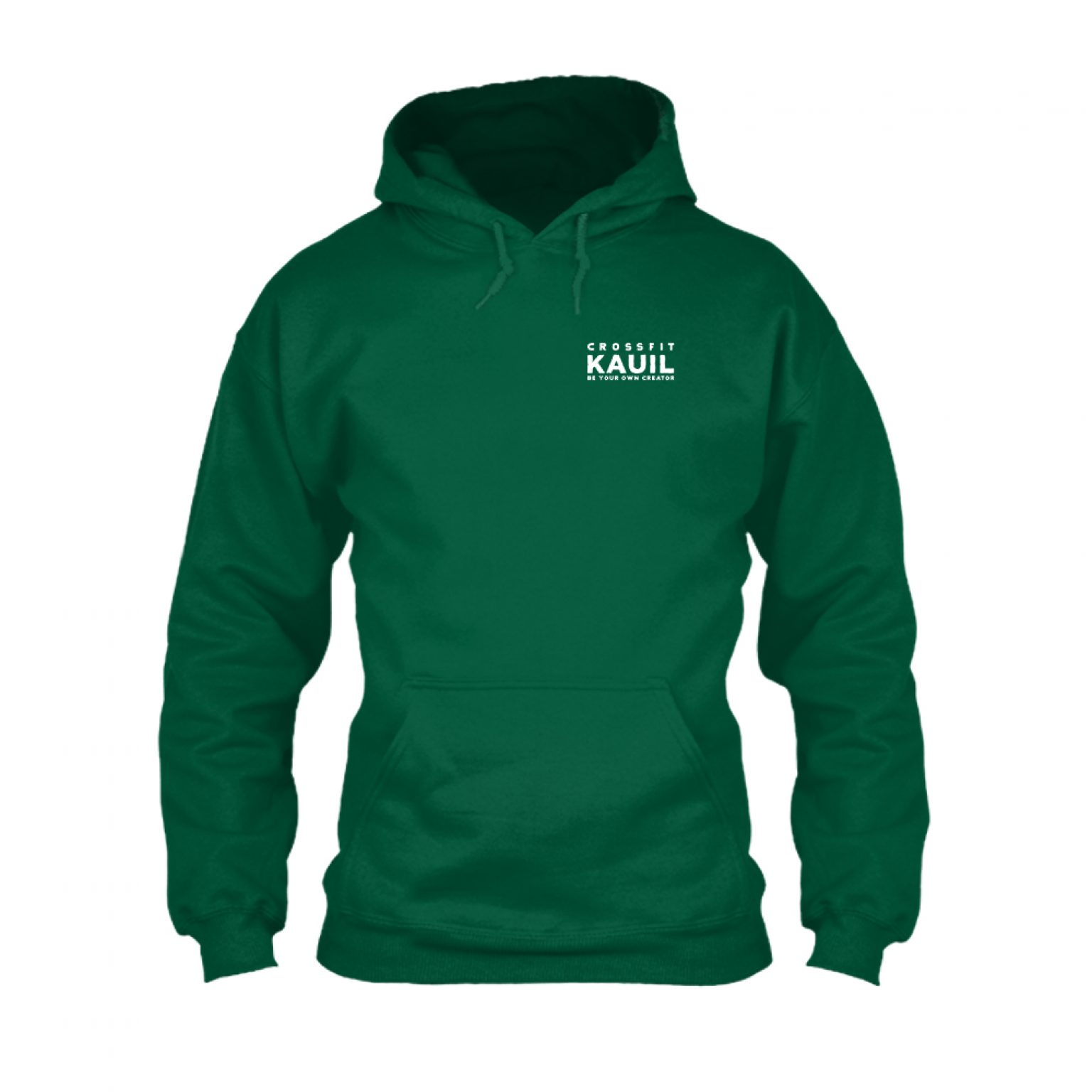 HerrenHoody Bottlegreen2 weiss front
