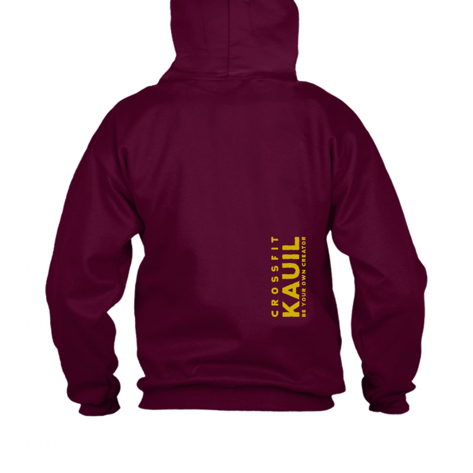 HerrenHoody Burgundy1 gold back