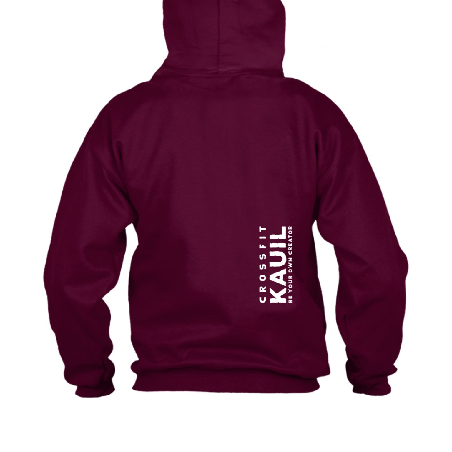 HerrenHoody Burgundy1 weiss back