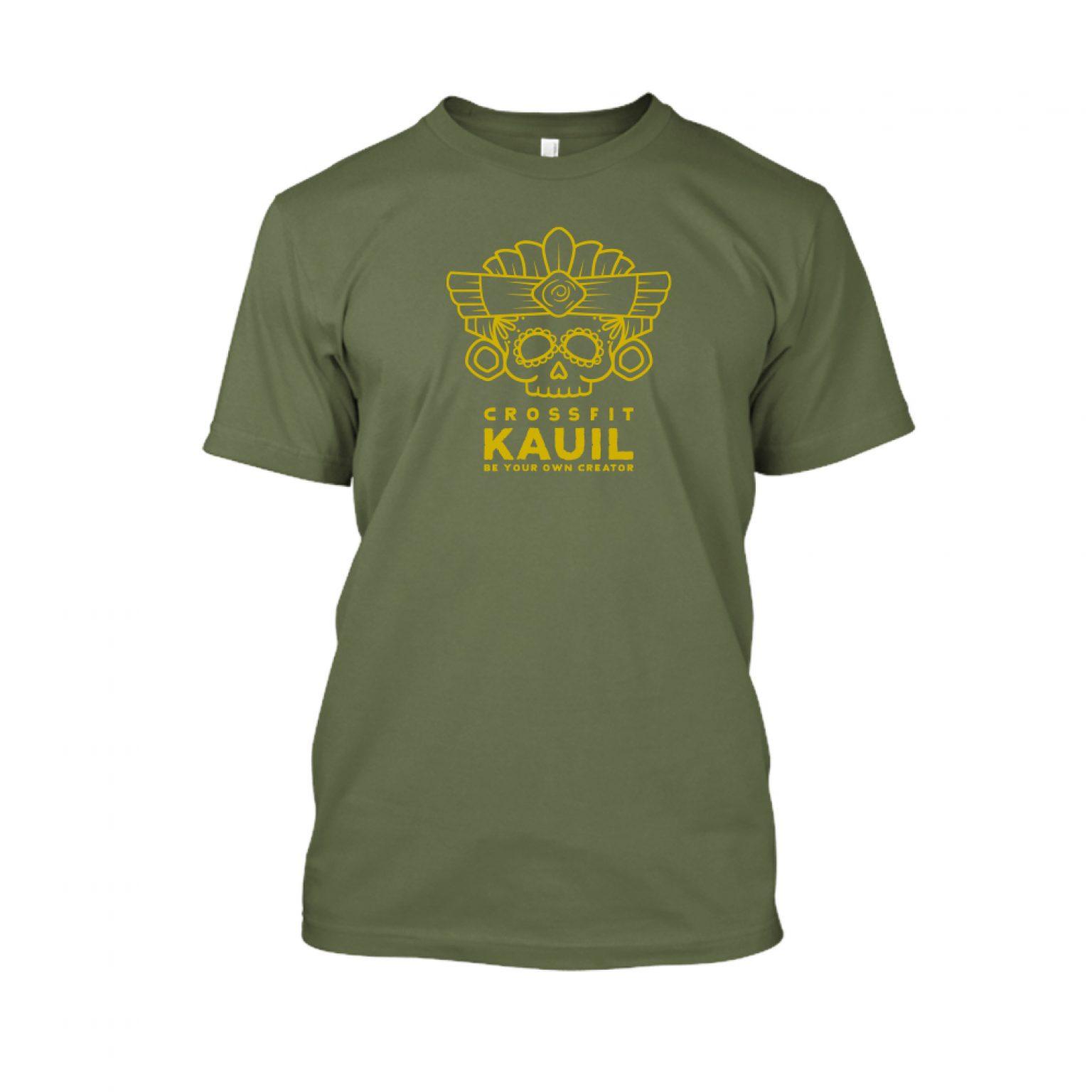 Herren Shirt Army1 gold front