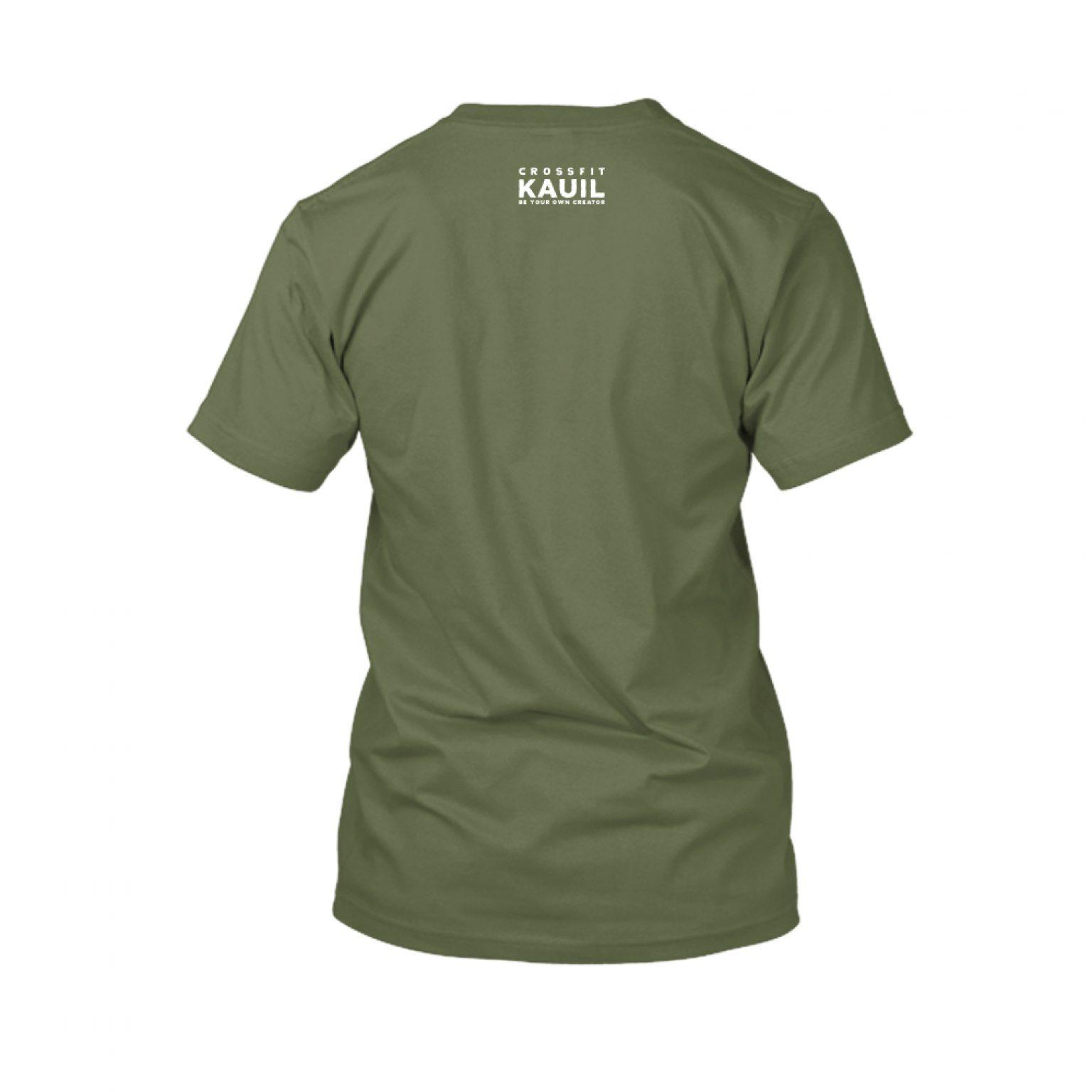 Herren Shirt Army1 weiss back