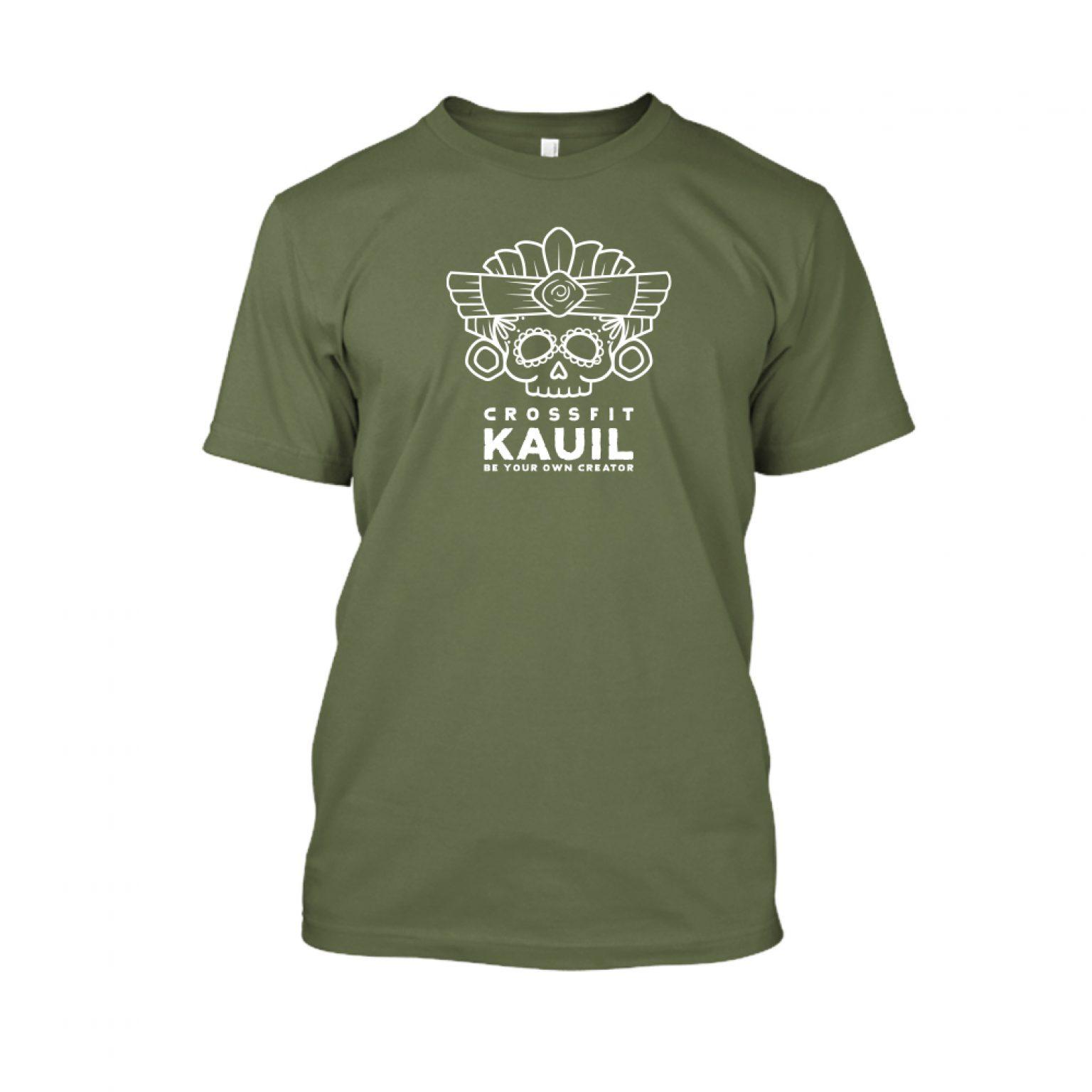 Herren Shirt Army1 weiss front