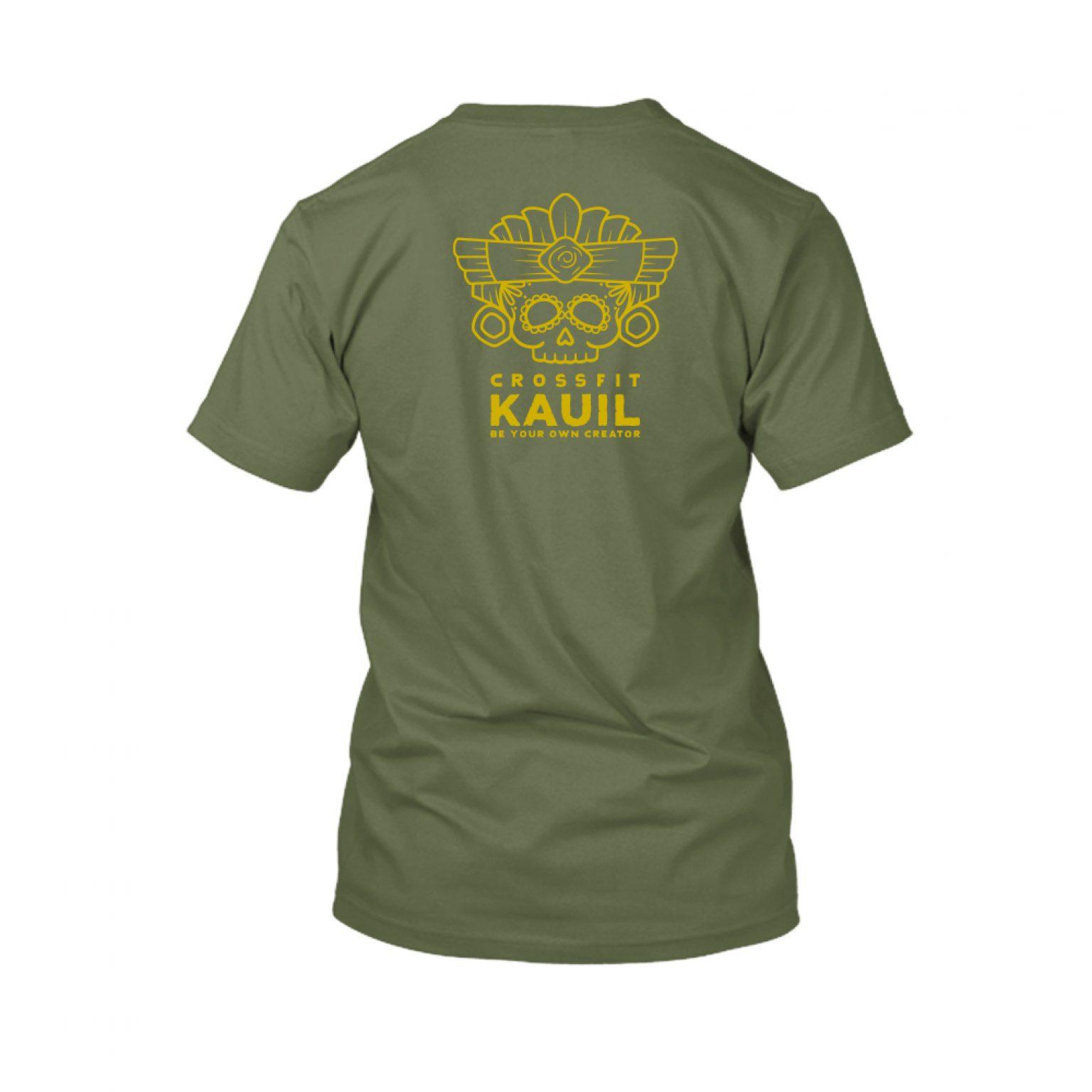 Herren Shirt Army2 gold back