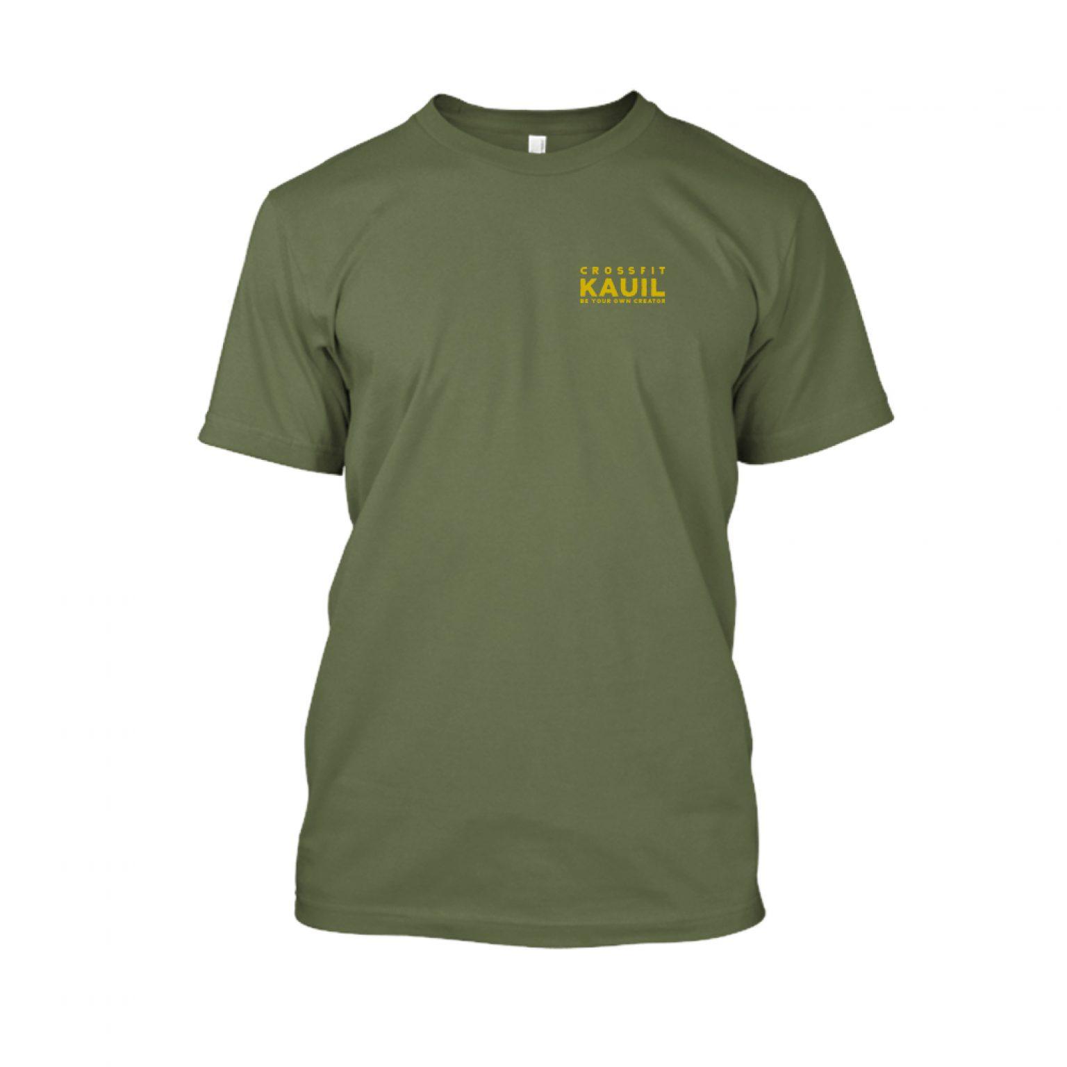 Herren Shirt Army2 gold front