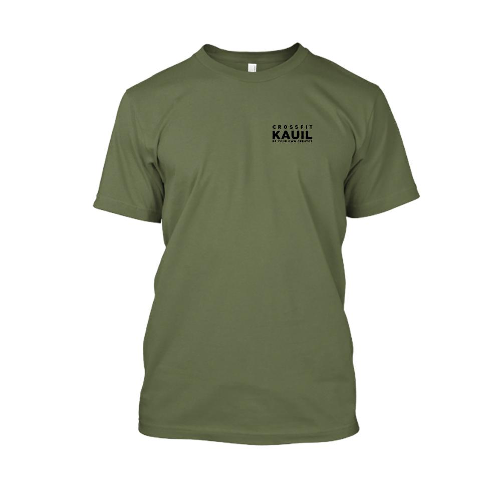 Herren Shirt Army2 schwarz front