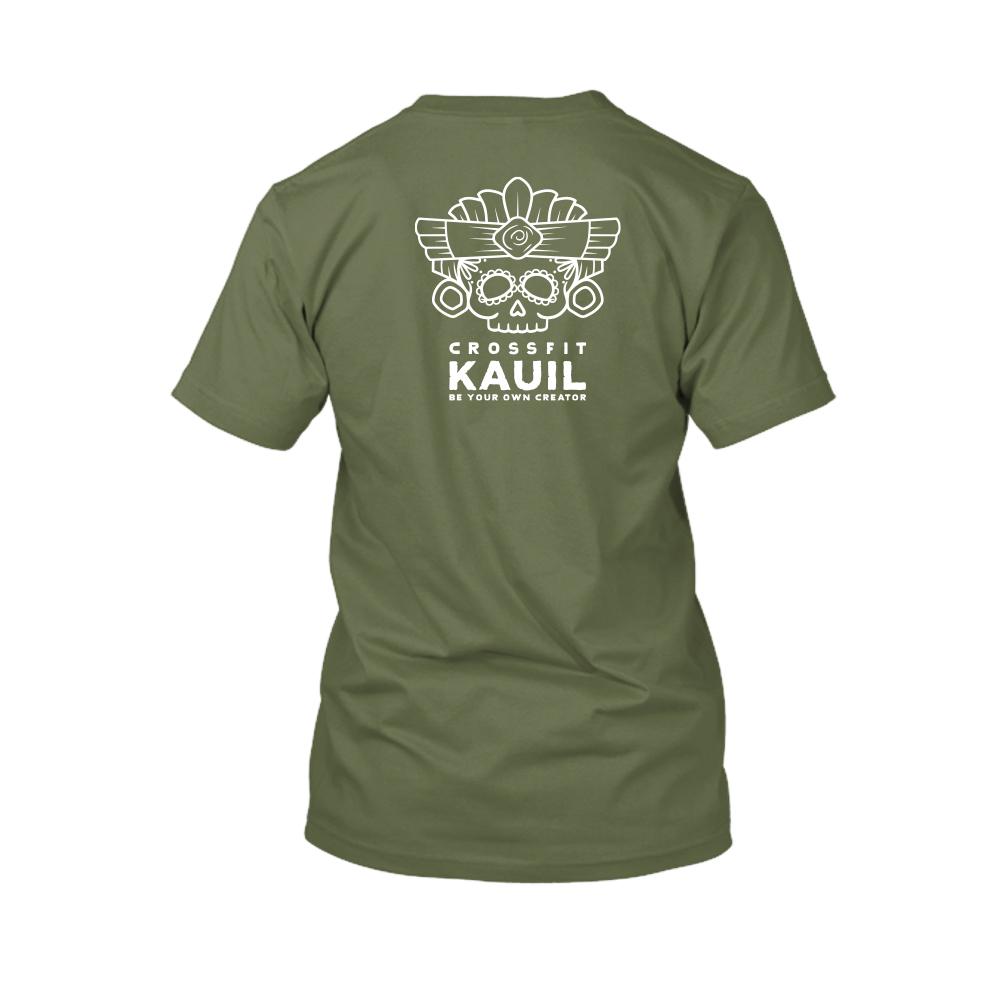 Herren Shirt Army2 weiss back