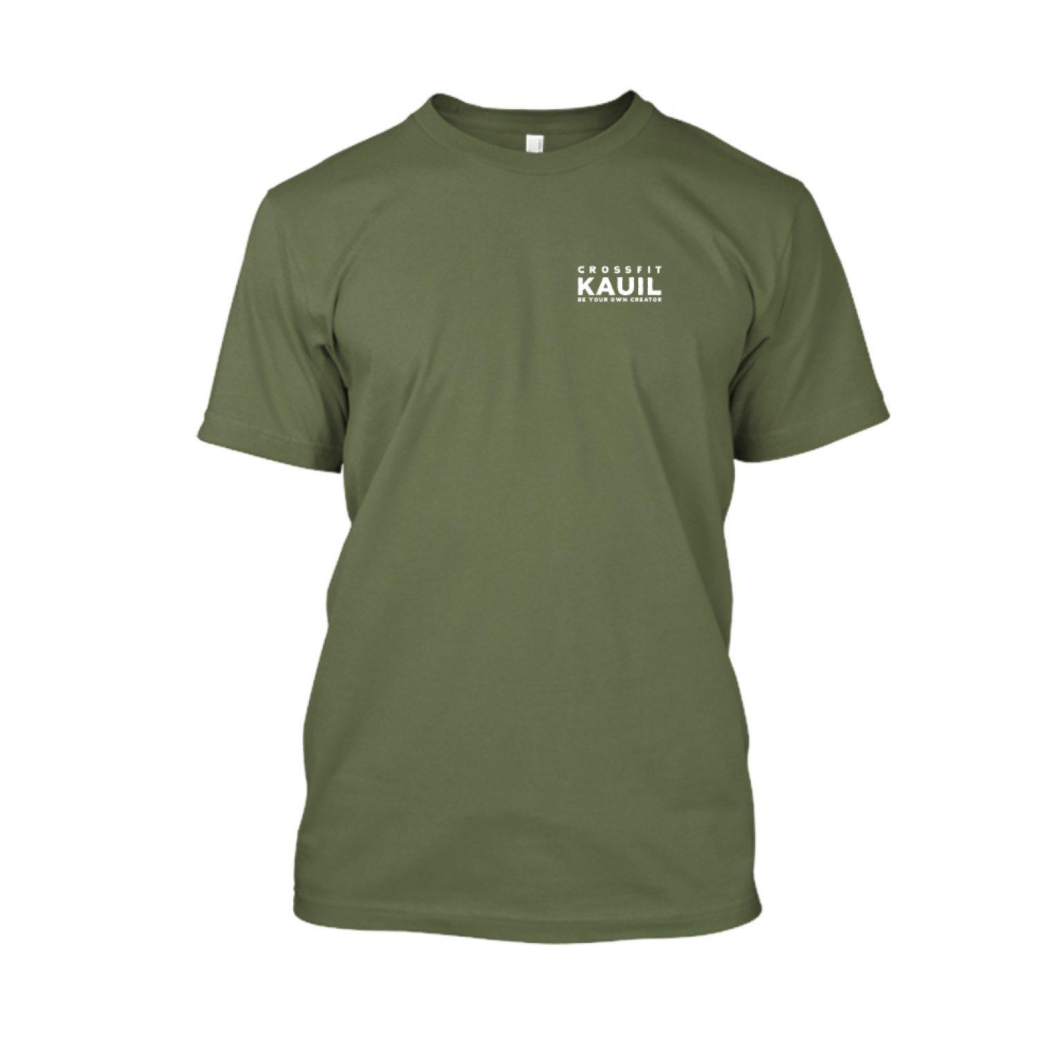 Herren Shirt Army2 weiss front
