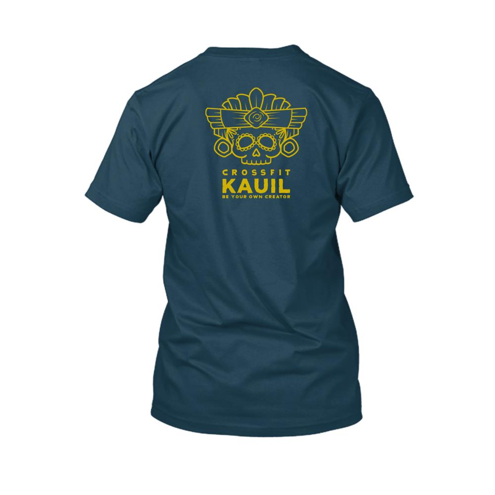 Herren Shirt Navy2 gold back