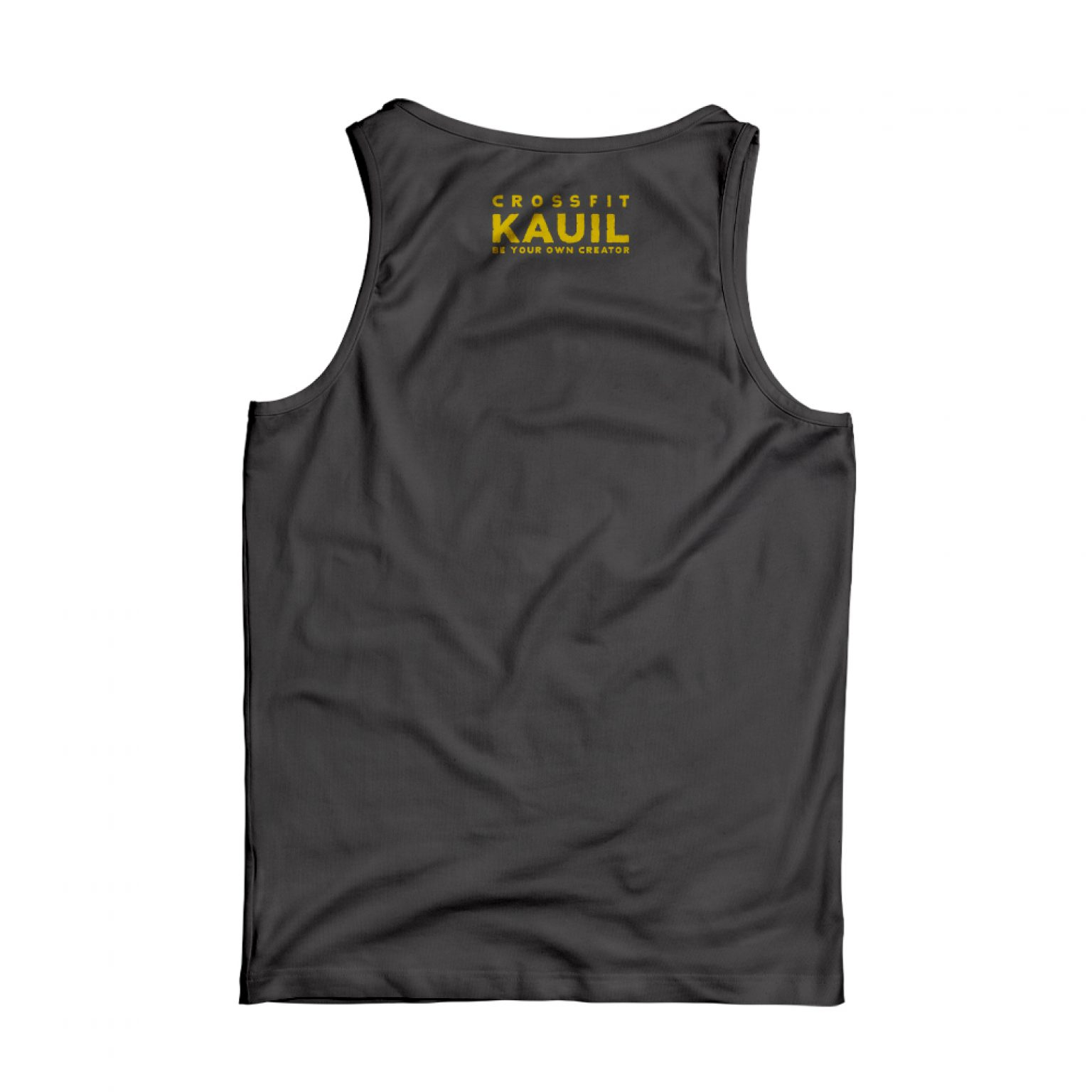 Herren Tank HeatherBlack1 gold back