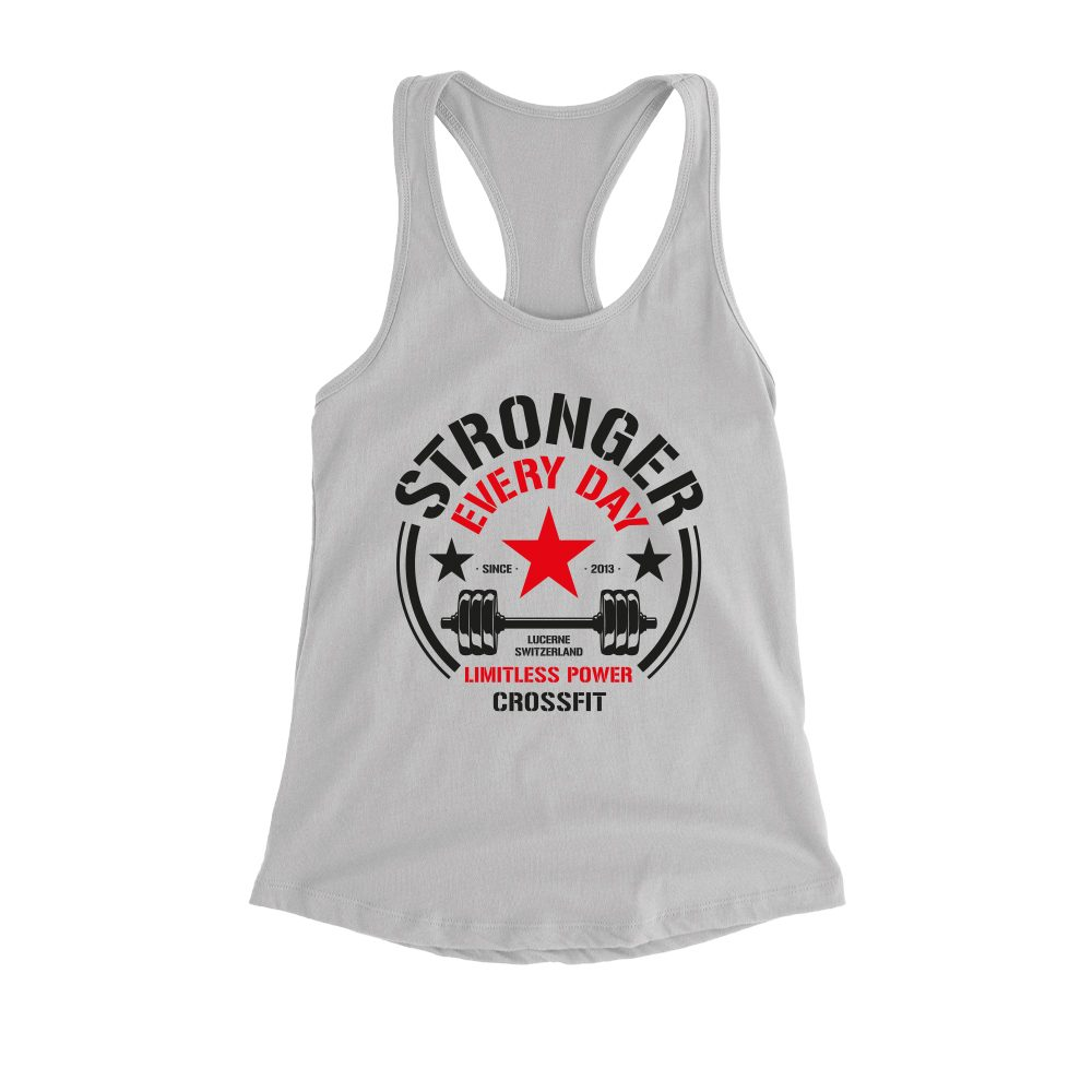 Stronger tanktop grey front 1