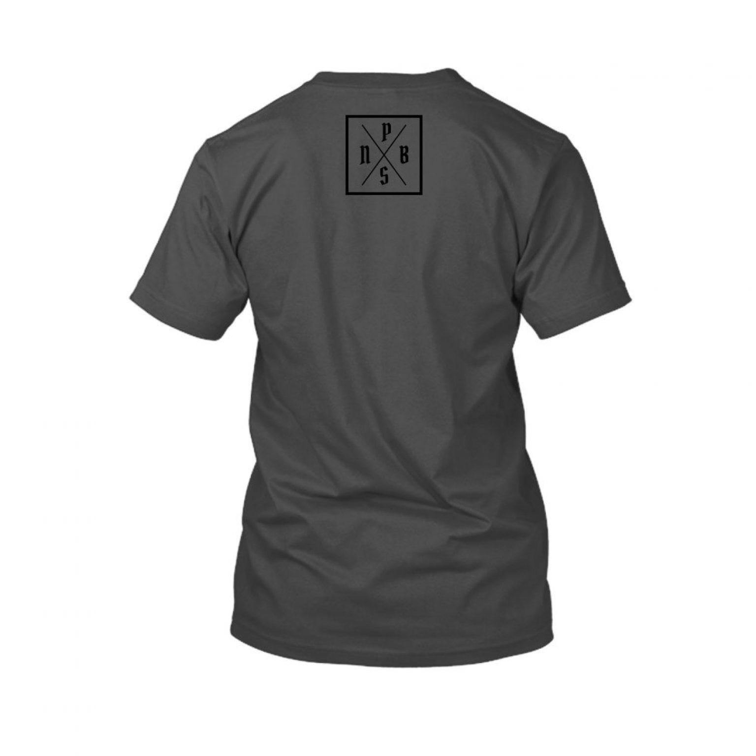 PBS shirt charcoal back