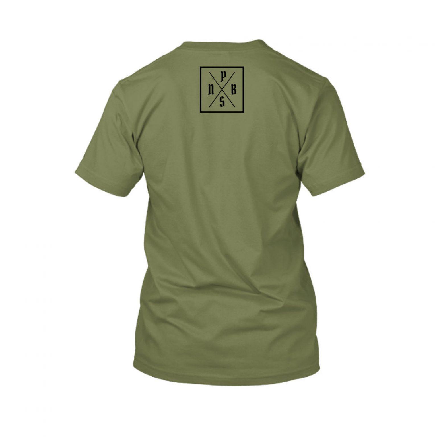 PBS shirt green back