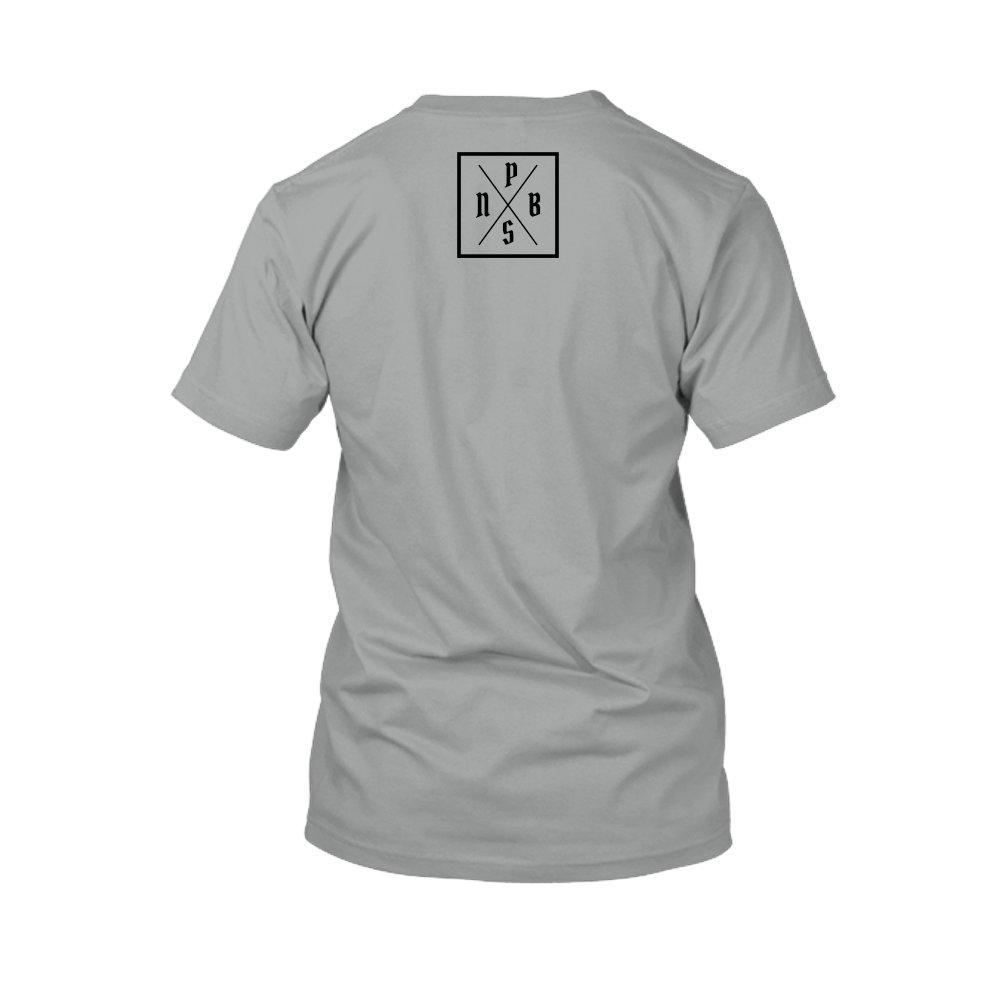 PBS shirt grey back