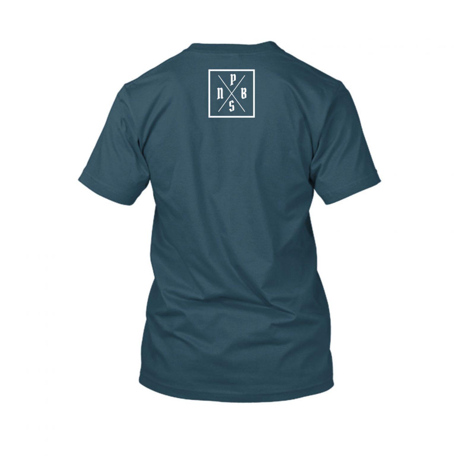 PBS shirt navyblue back