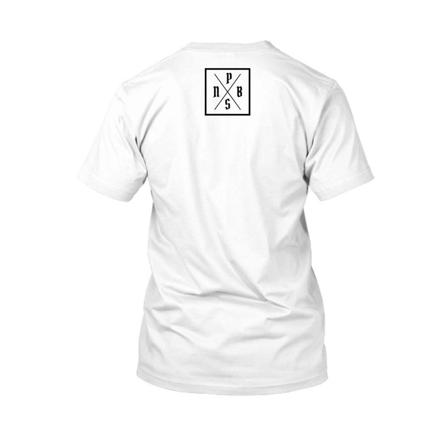 PBS shirt white back