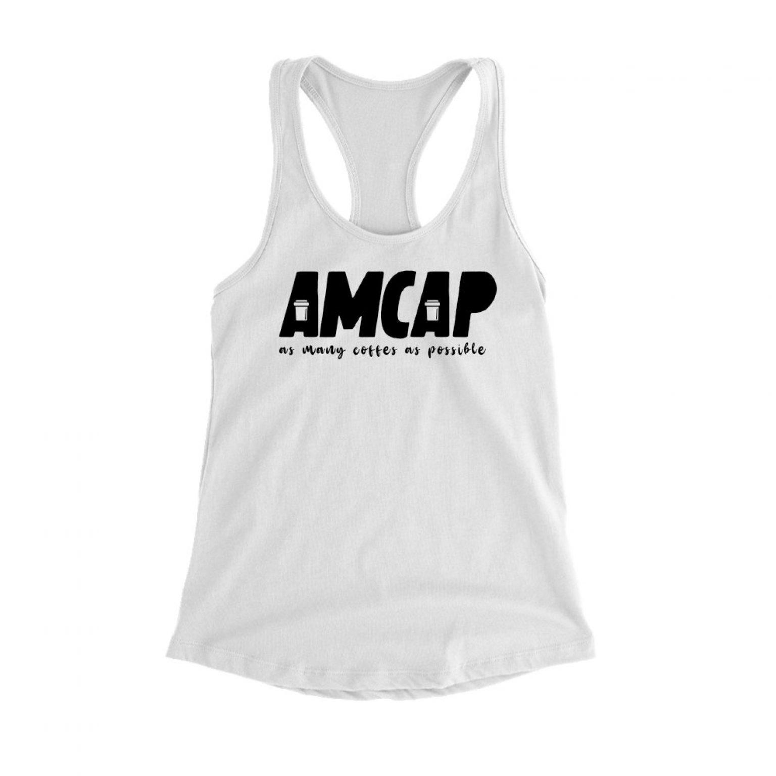 tanktop amcap white front