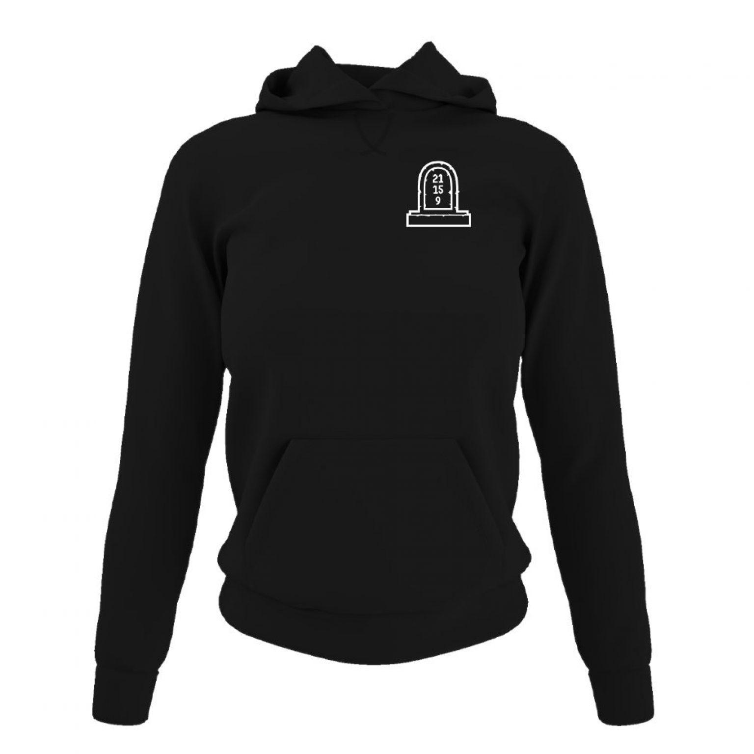 3numbers damen hoodie black front