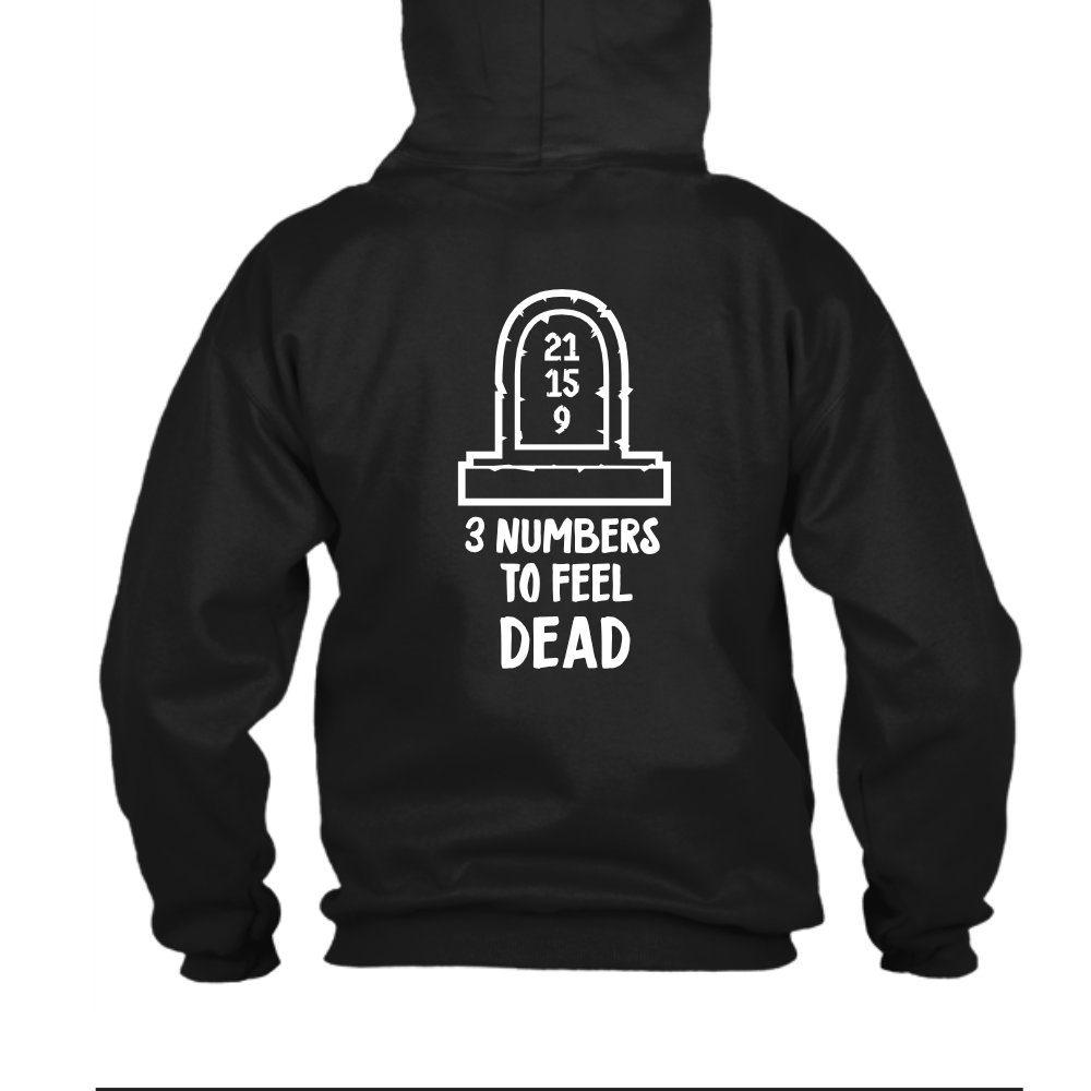 3numbers herren hoodie black back