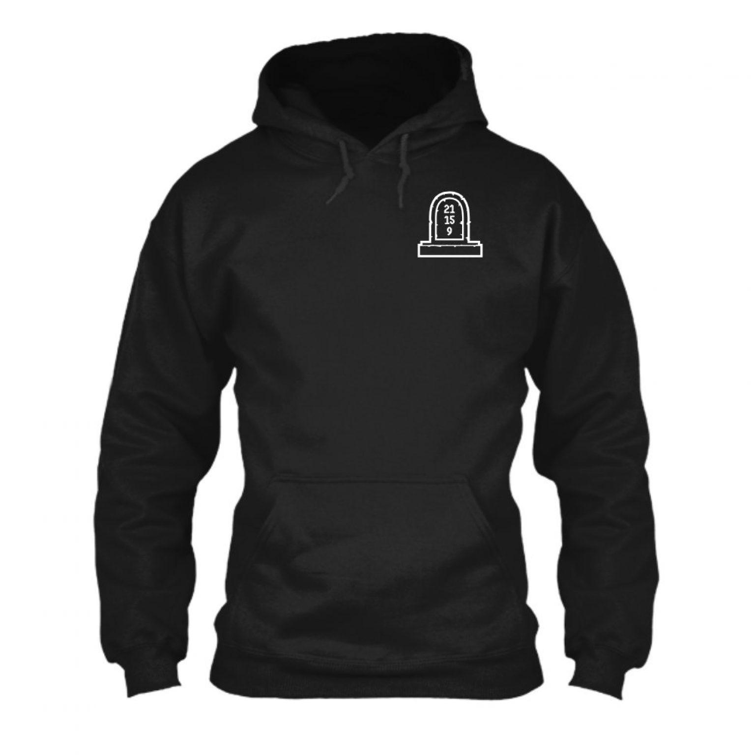3numbers herren hoodie black front