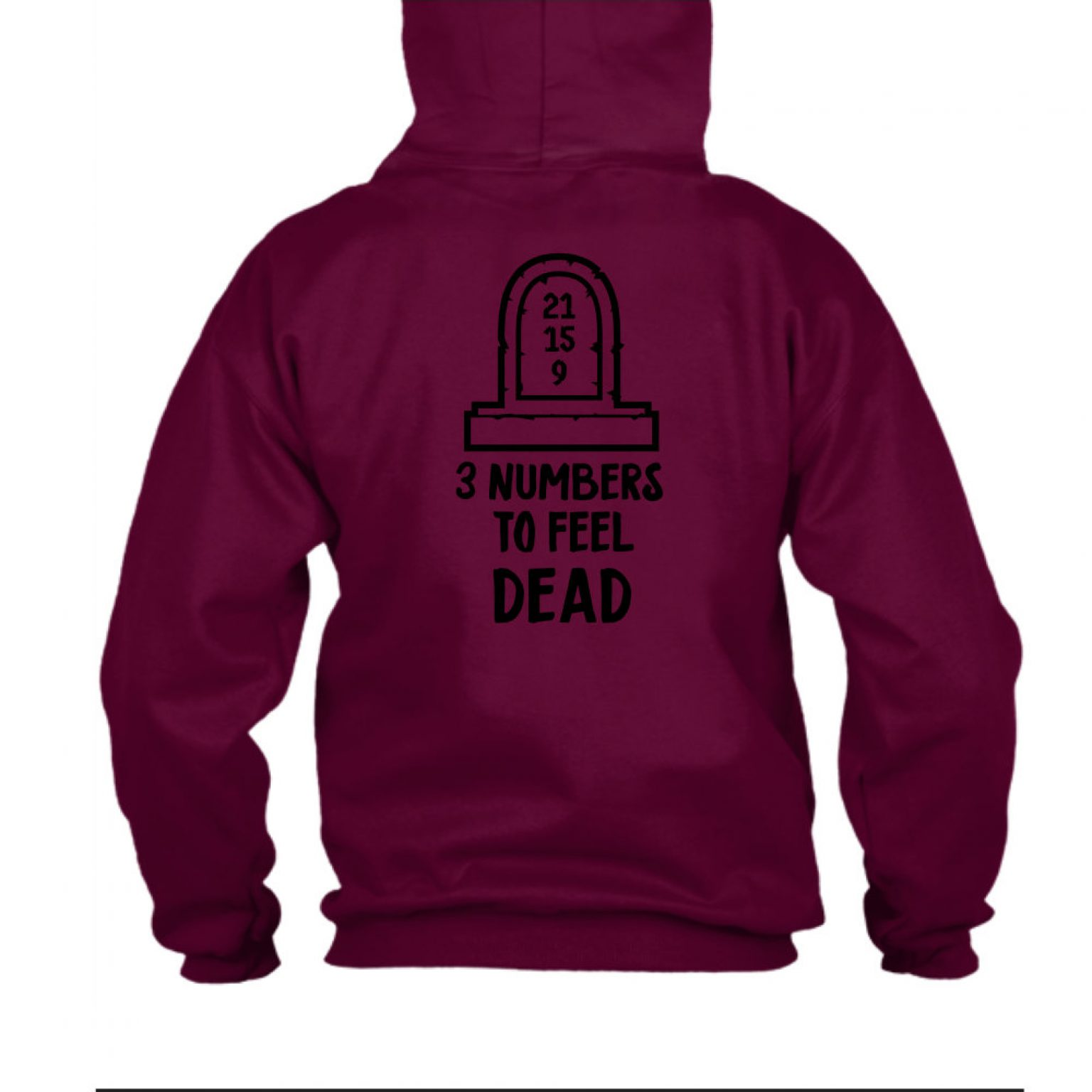 3numbers herren hoodie burgundy back