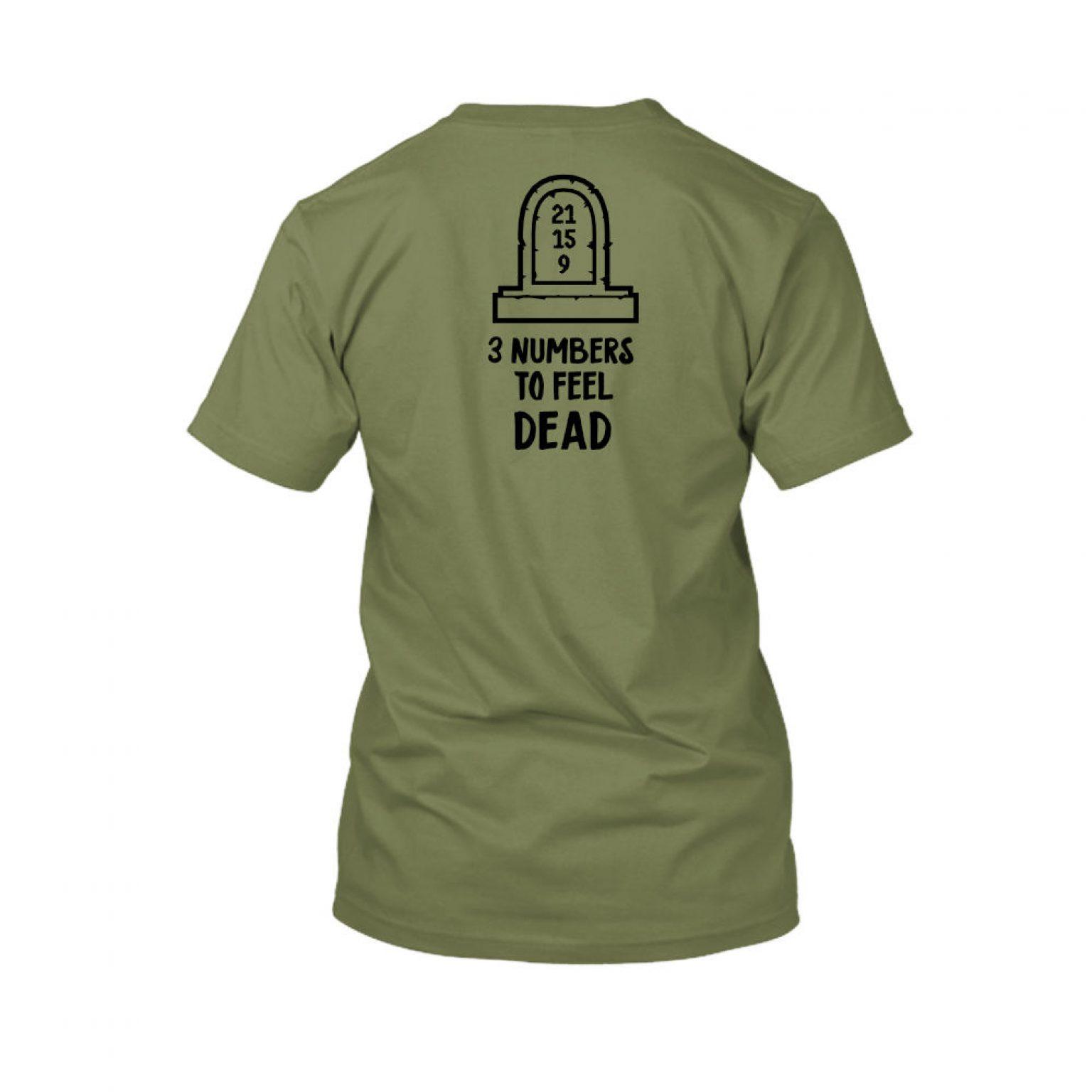 3numbers shirt herren green back