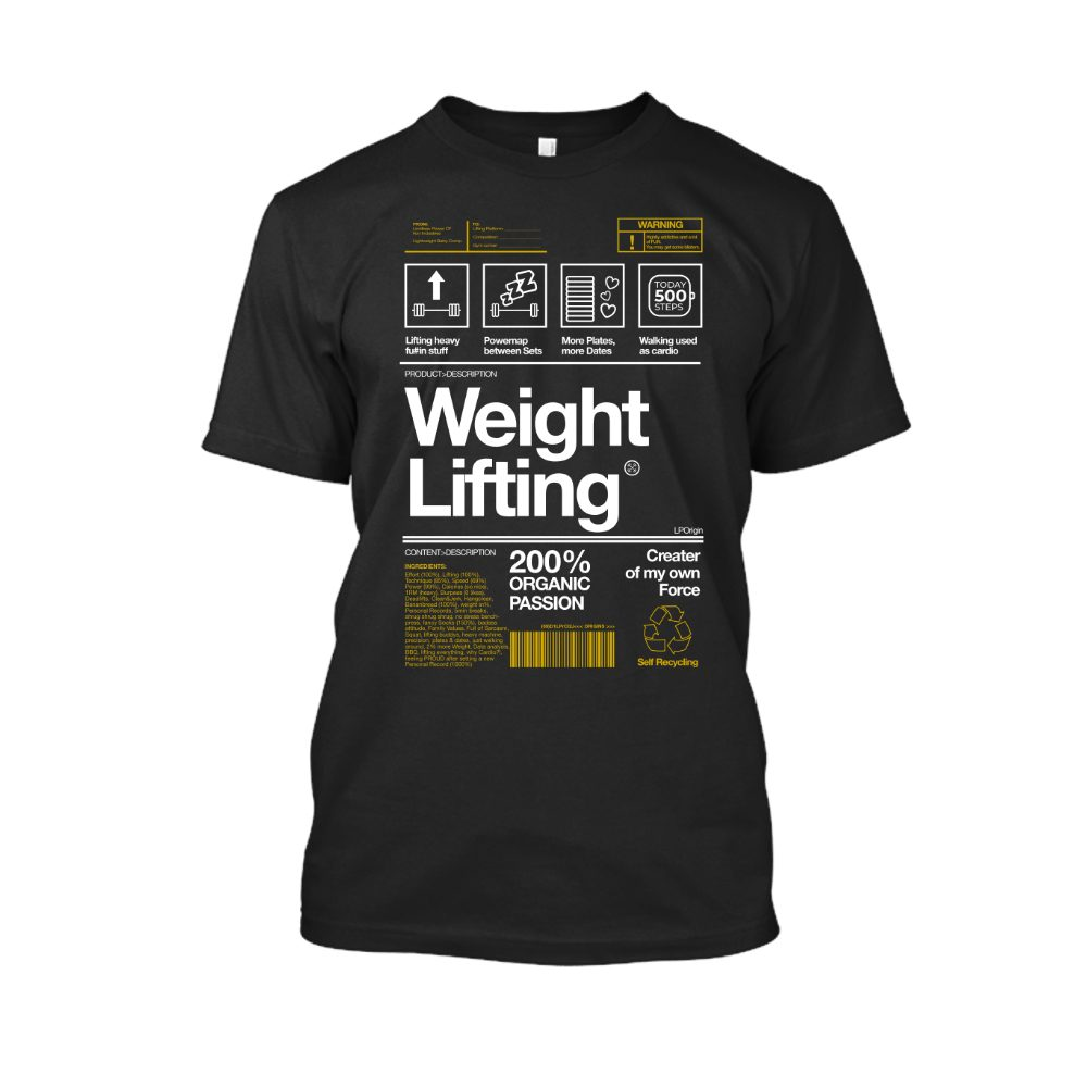 Herren Weightlifting schwarz