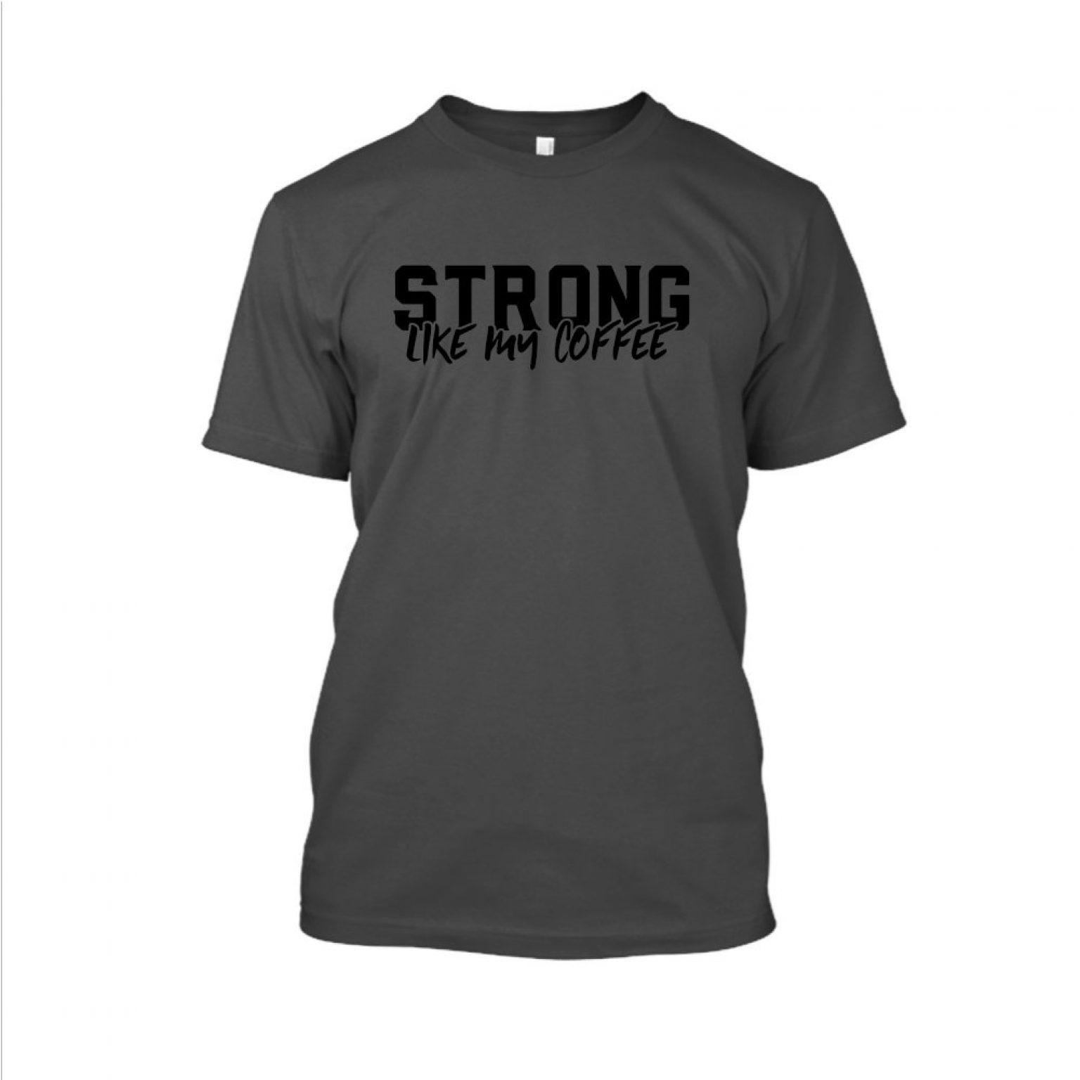 Strong likemycoffe Shirt herren charcoal