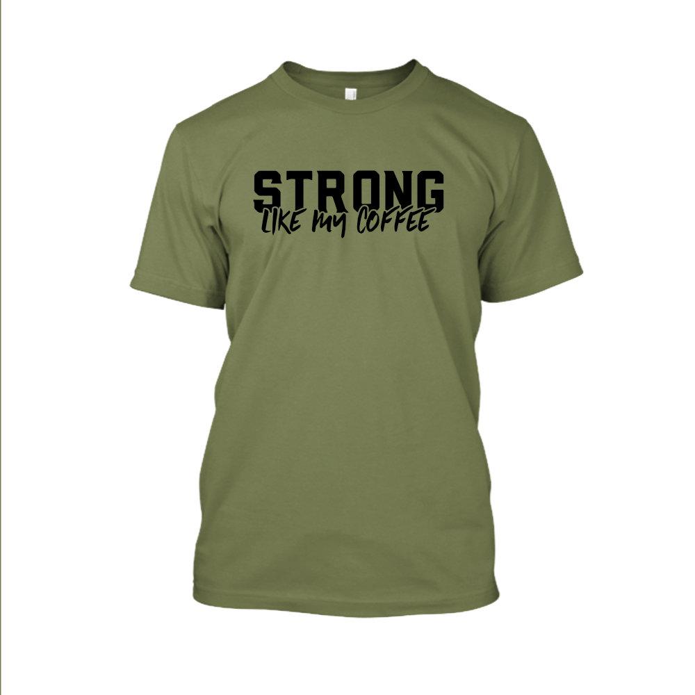 Strong likemycoffe Shirt herren green