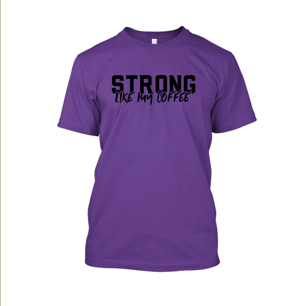 Strong likemycoffe Shirt herren purple