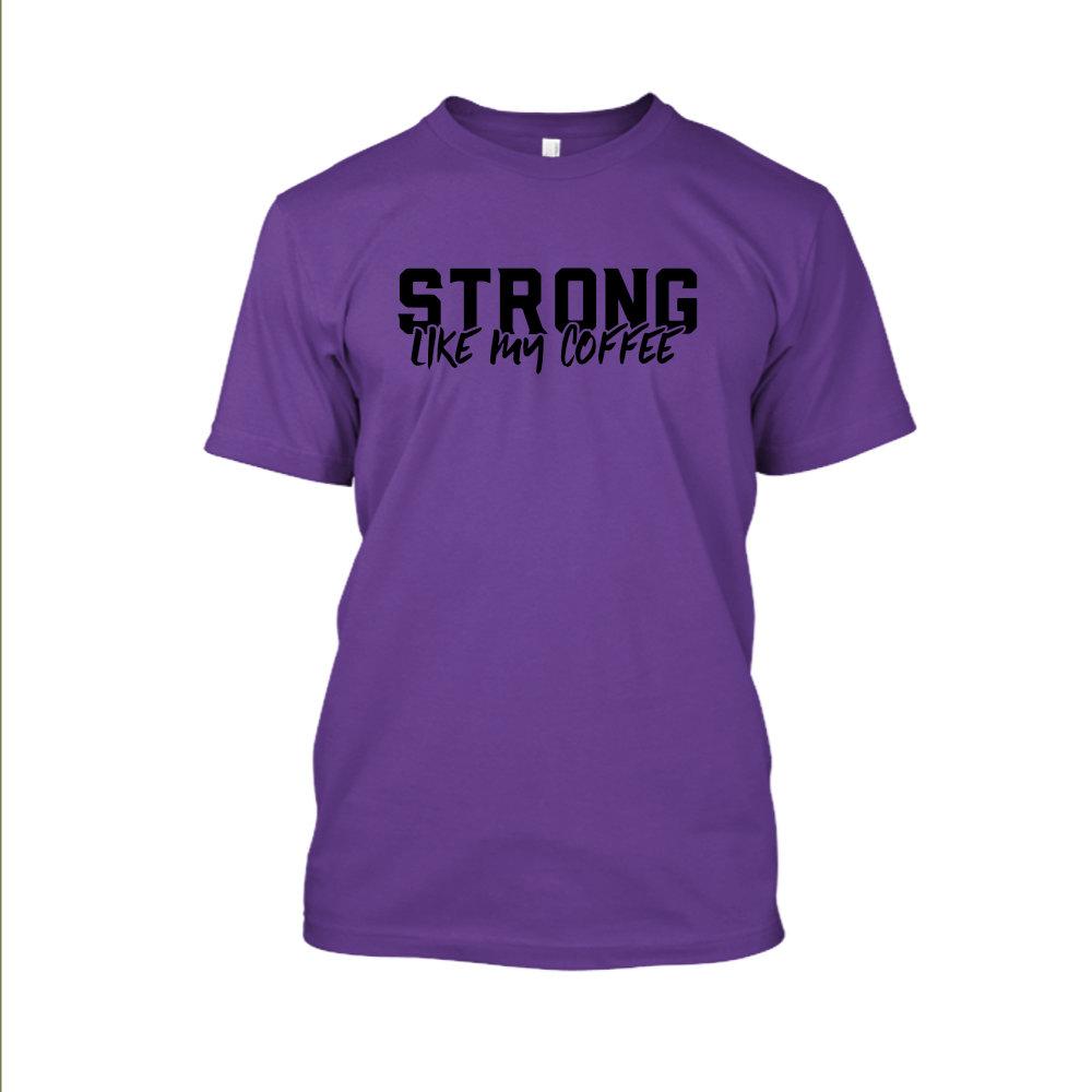 Strong likemycoffe Shirt herren purple