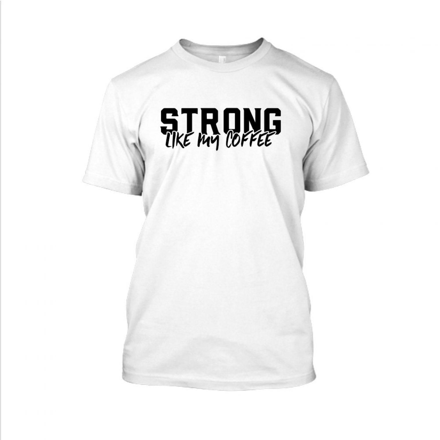 Strong likemycoffe Shirt herren white