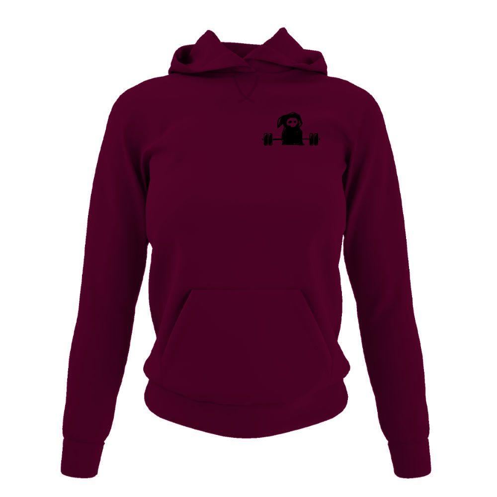 deathlifts hoodie damen burgundy front