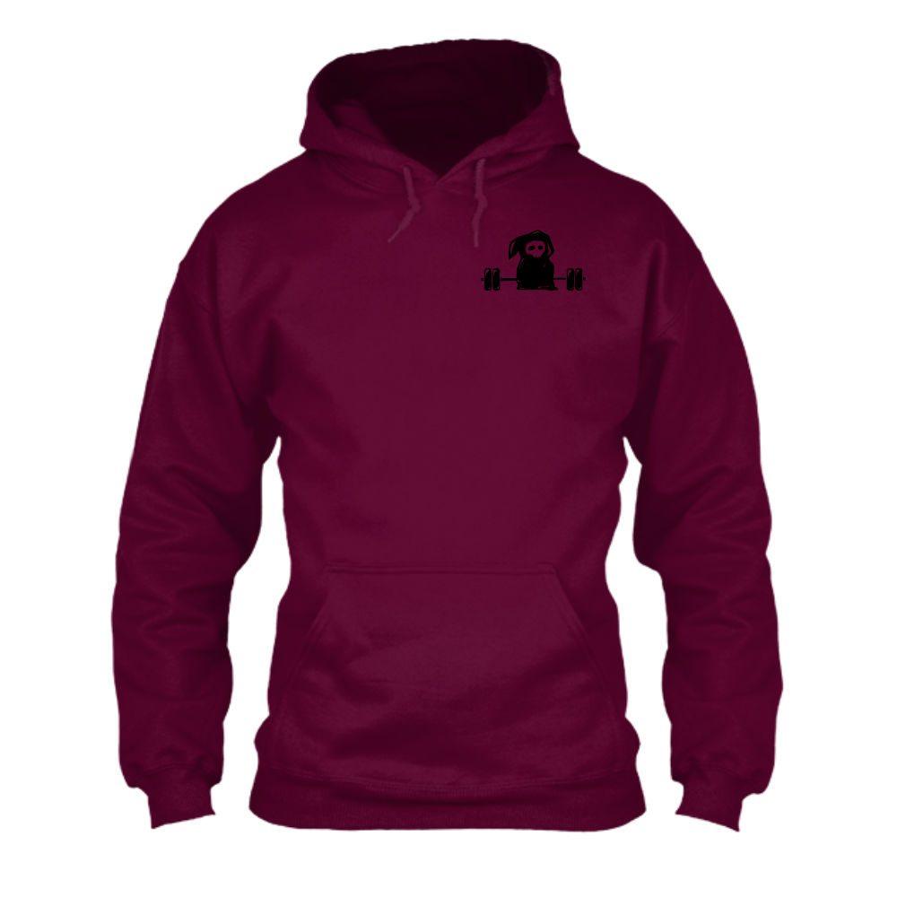 deathlifts hoodie herren burgundy front