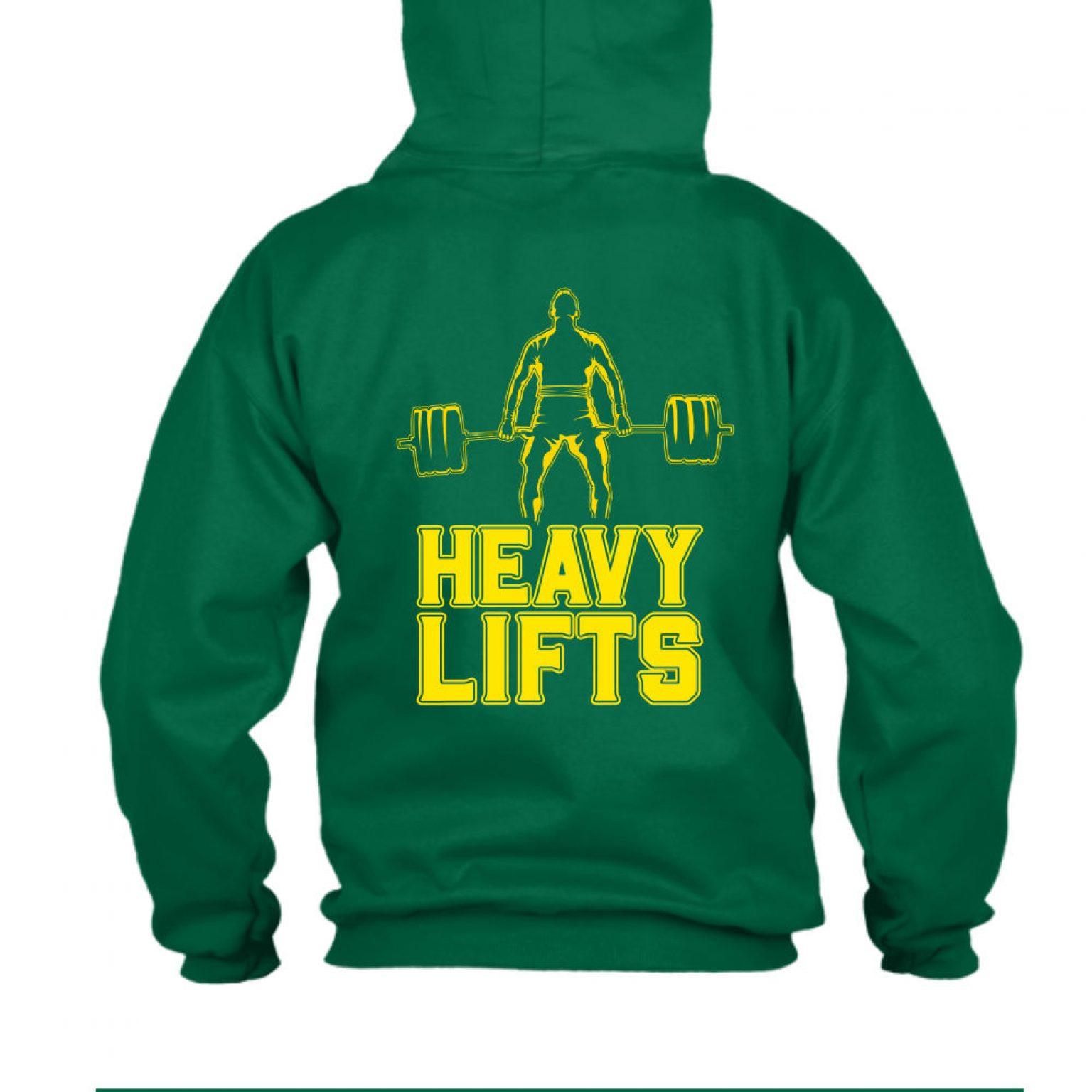 heavylifts hoodie herren green back