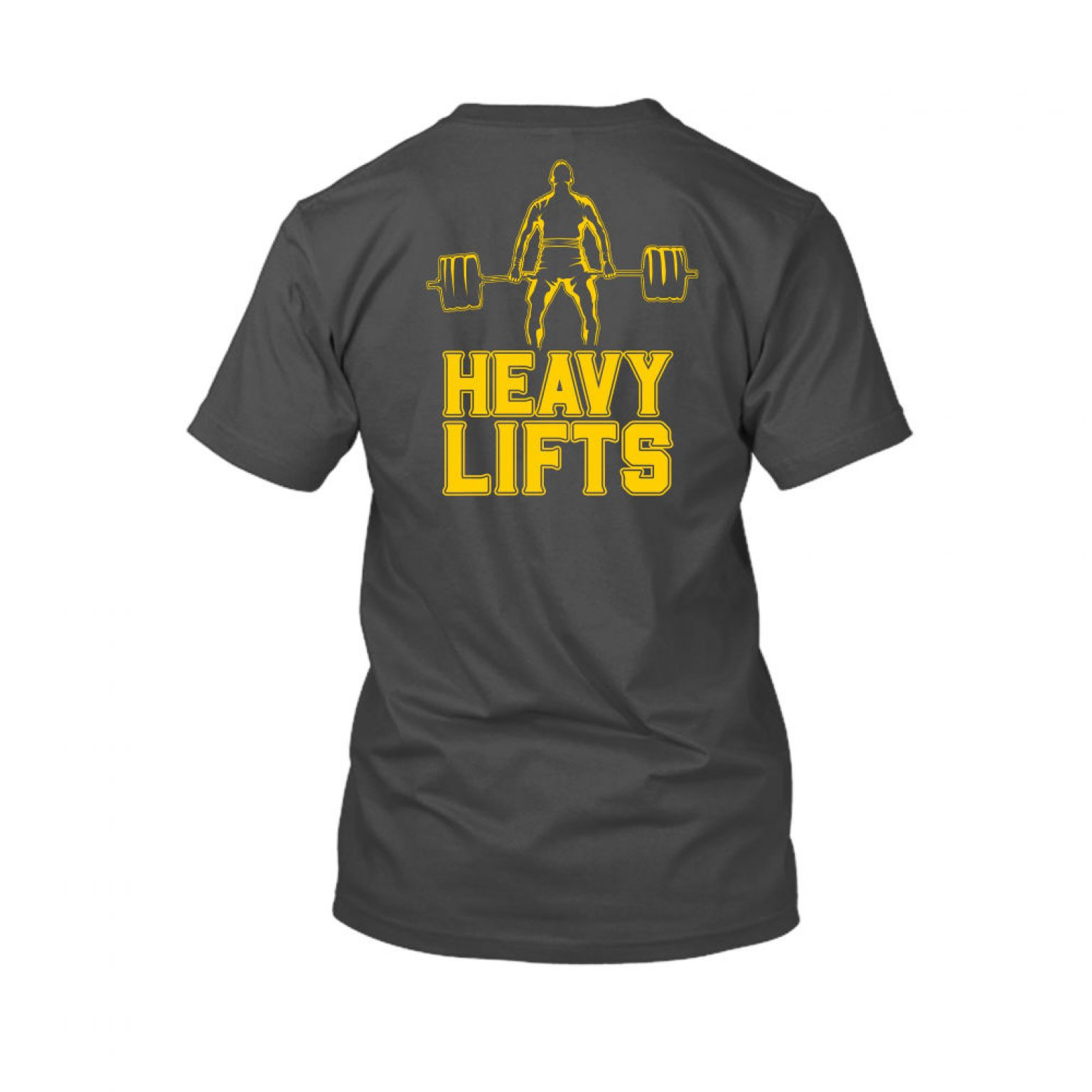 heavylifts shirt herren charcoal back