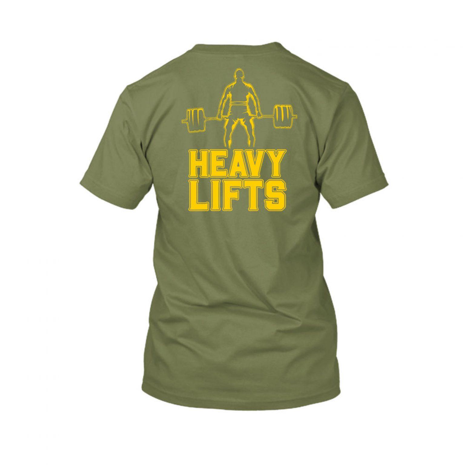 heavylifts shirt herren green back