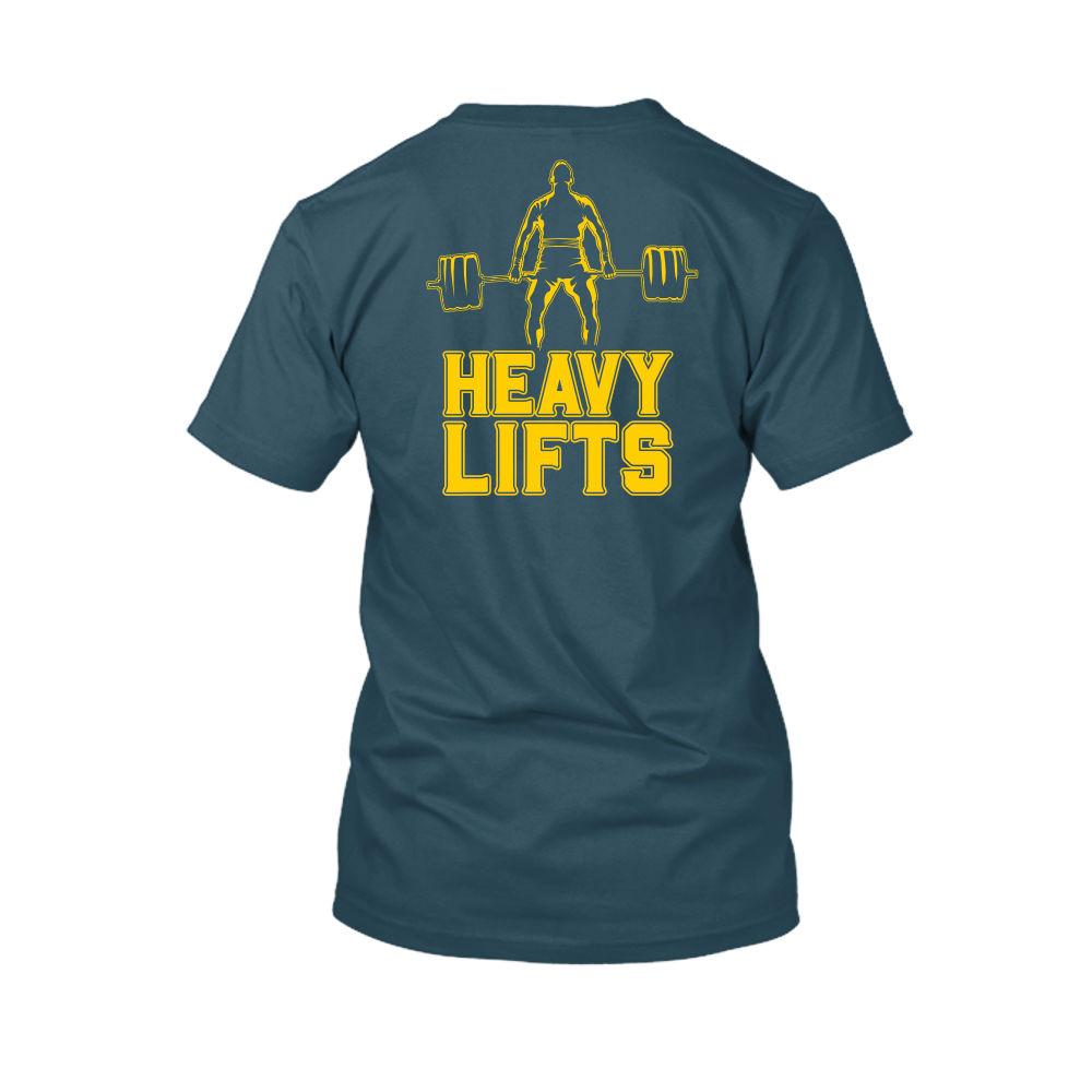 heavylifts shirt herren navy back